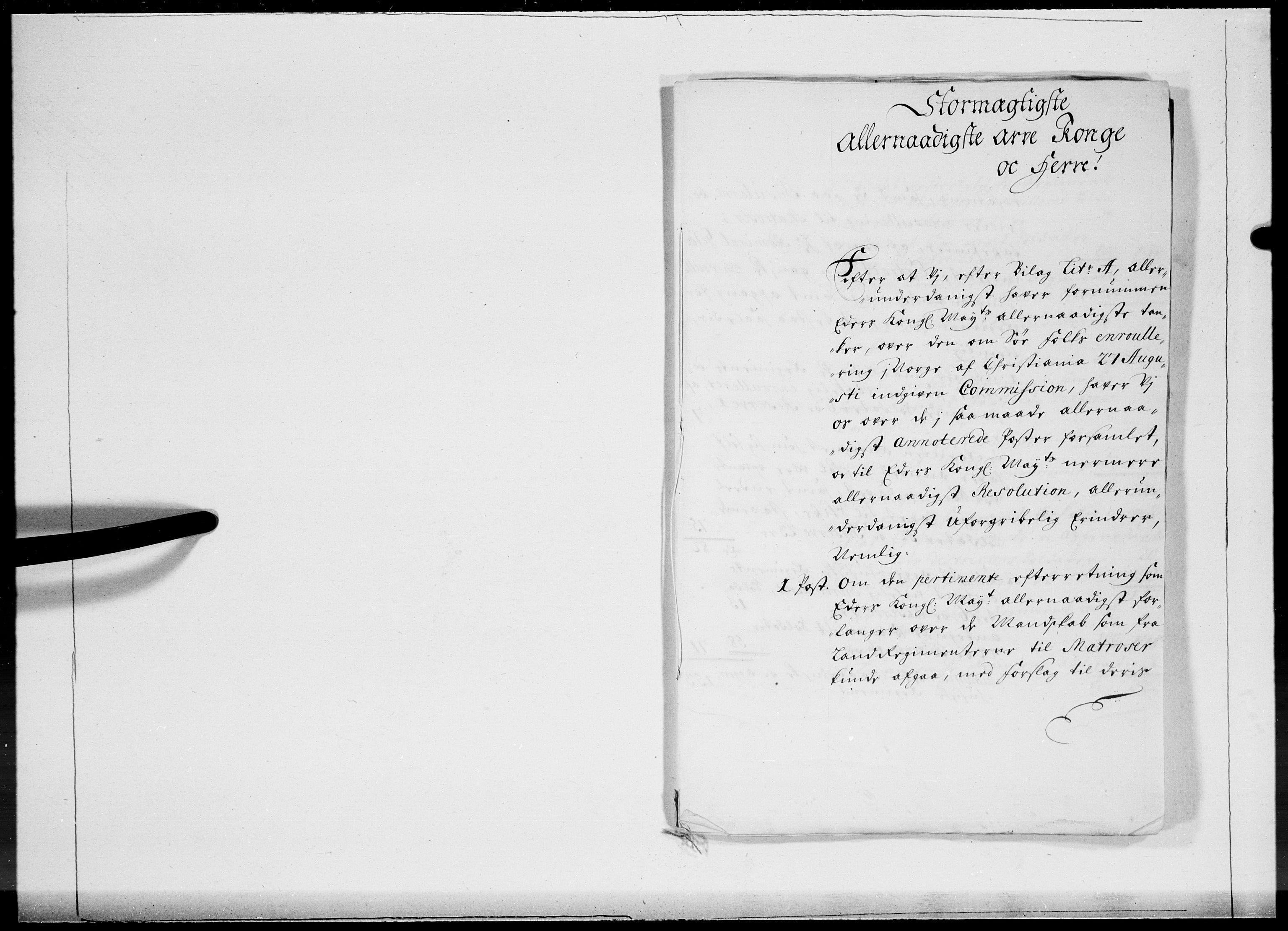 RA, Danske Kanselli 1572-1799, F/Fc/Fcc/Fcca/L0057: Norske innlegg 1572-1799, 1704, s. 397