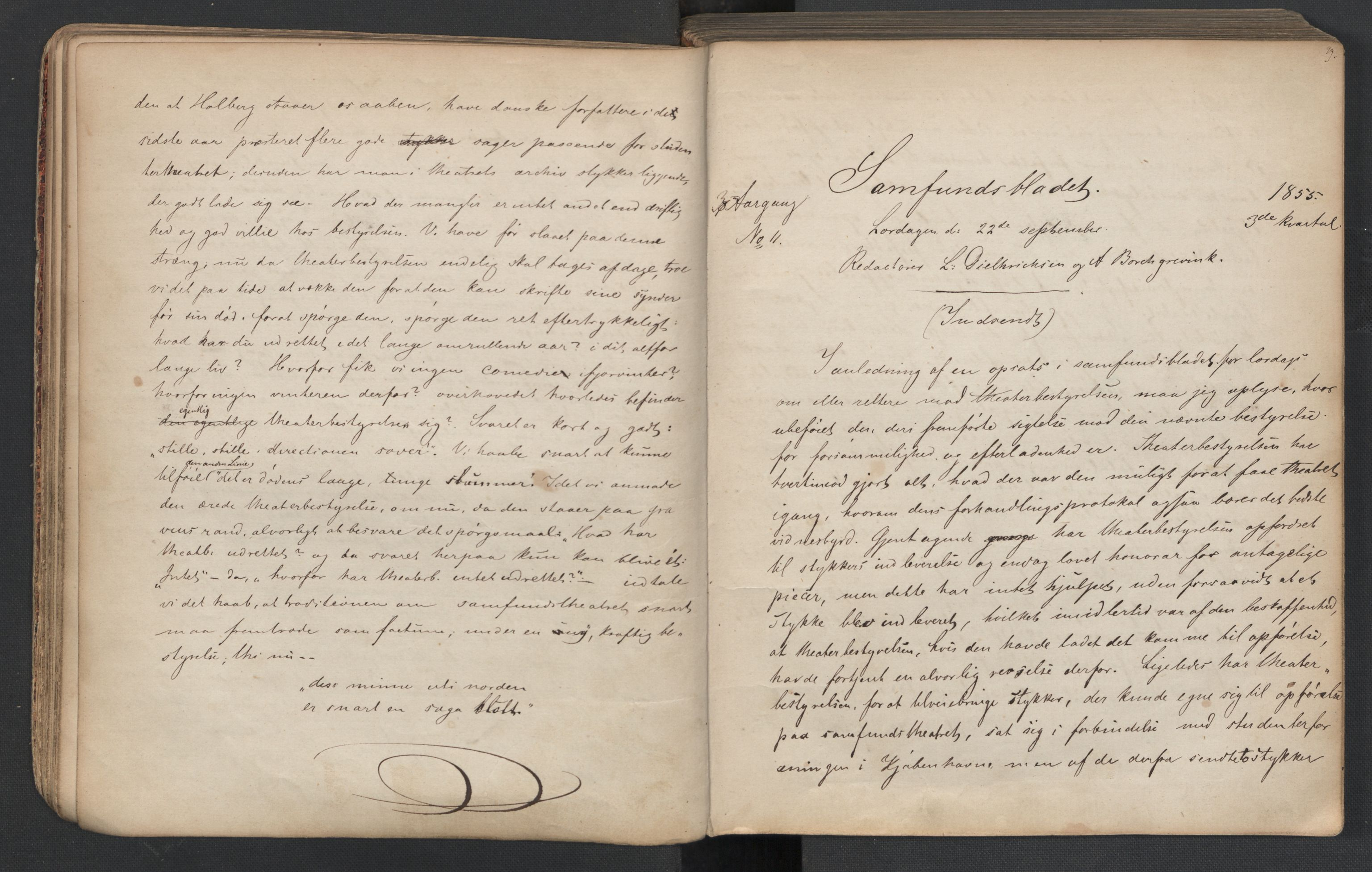 RA, Det Norske Studentersamfund, X/Xa/L0005, 1855-1856, s. 26