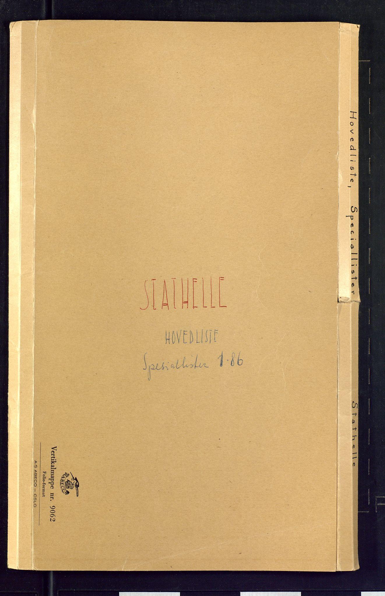 SAKO, Folketelling 1875 for 0803B Bamble prestegjeld, Stathelle ladested, 1875, s. 1