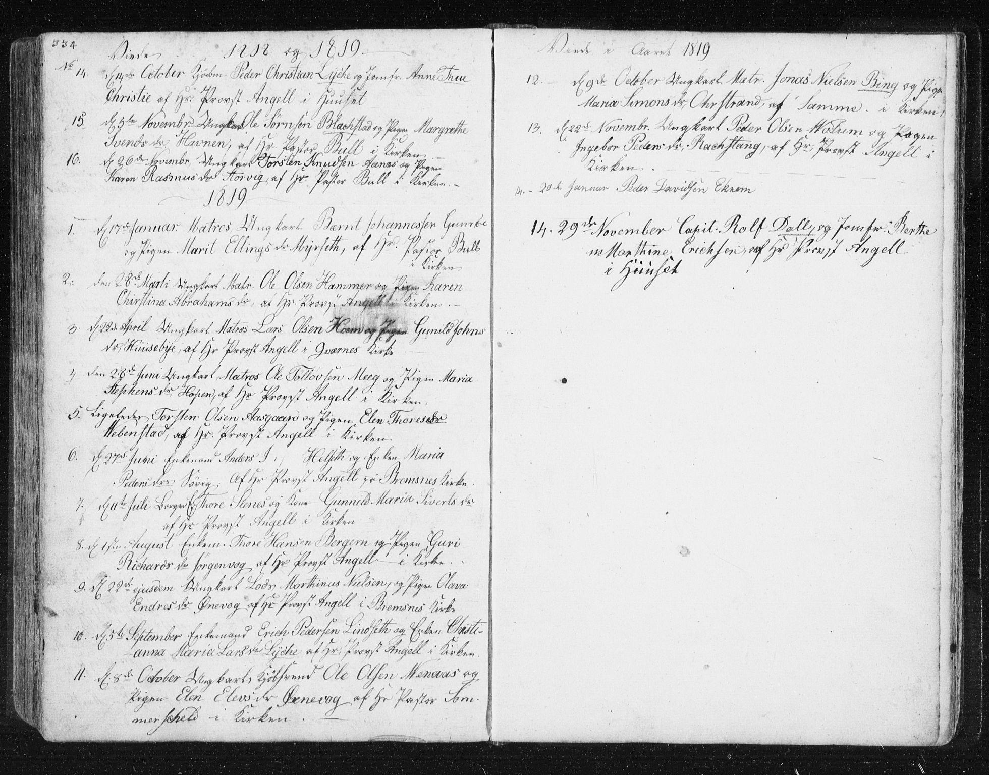 SAT, Ministerialprotokoller, klokkerbøker og fødselsregistre - Møre og Romsdal, 572/L0841: Ministerialbok nr. 572A04, 1784-1819, s. 334