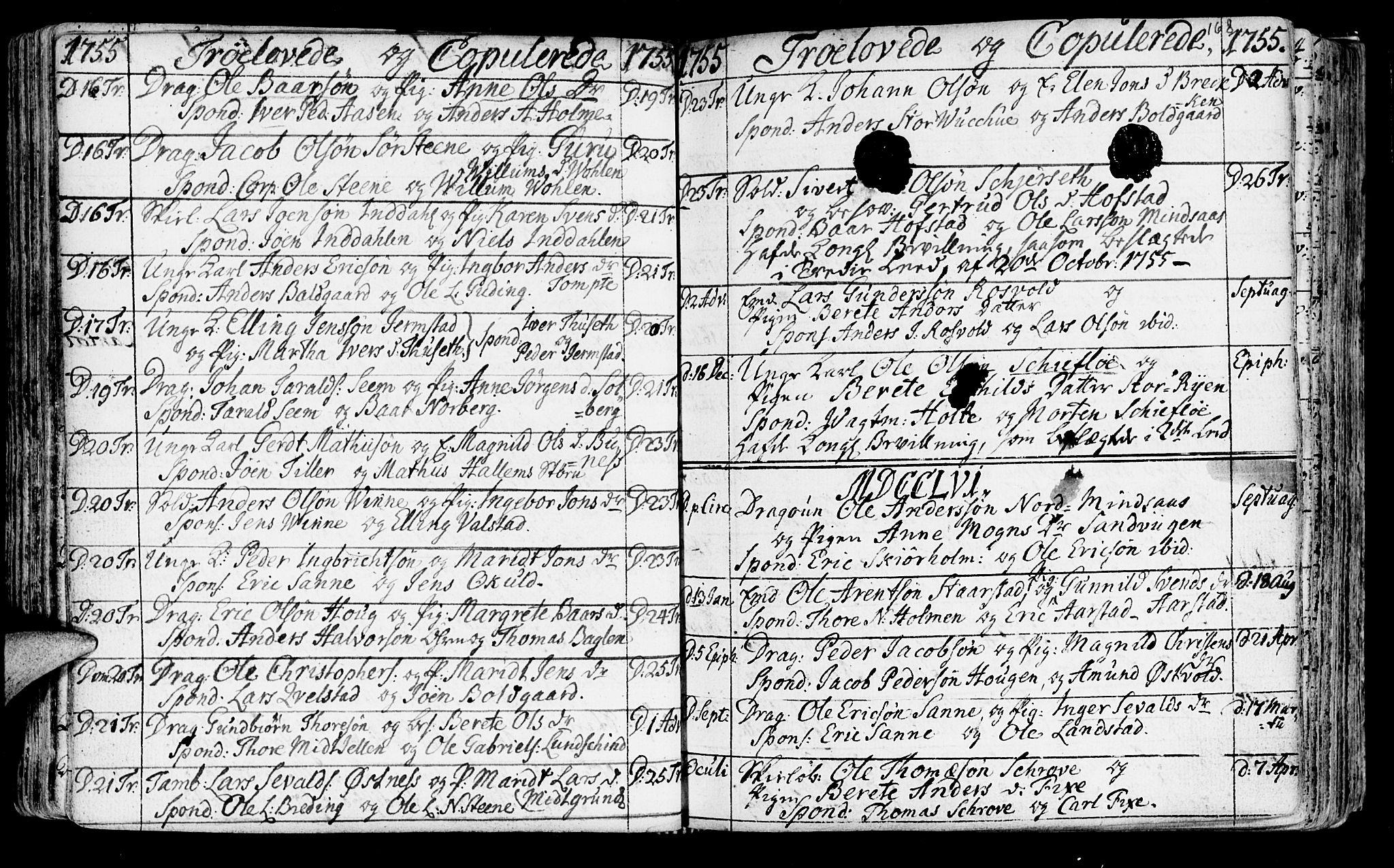 SAT, Ministerialprotokoller, klokkerbøker og fødselsregistre - Nord-Trøndelag, 723/L0231: Ministerialbok nr. 723A02, 1748-1780, s. 168