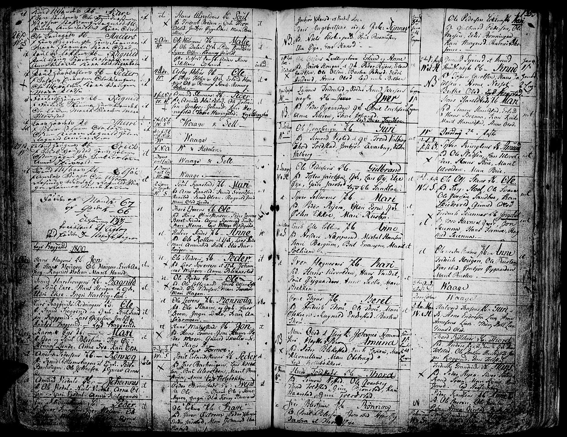 SAH, Vågå prestekontor, Ministerialbok nr. 1, 1739-1810, s. 135