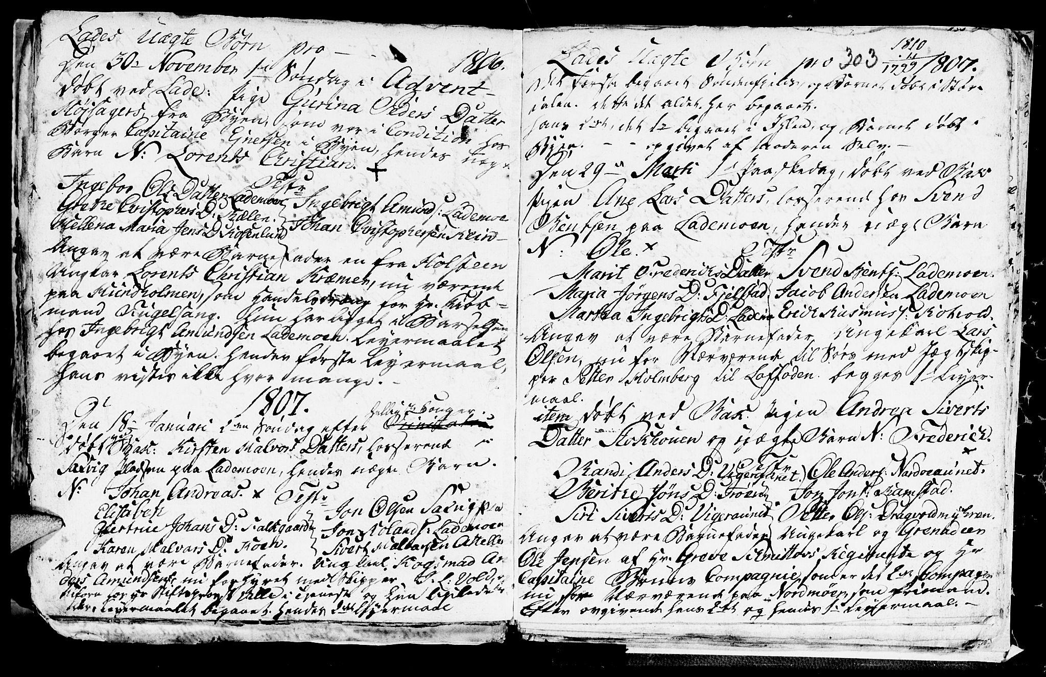 SAT, Ministerialprotokoller, klokkerbøker og fødselsregistre - Sør-Trøndelag, 606/L0305: Klokkerbok nr. 606C01, 1757-1819, s. 303
