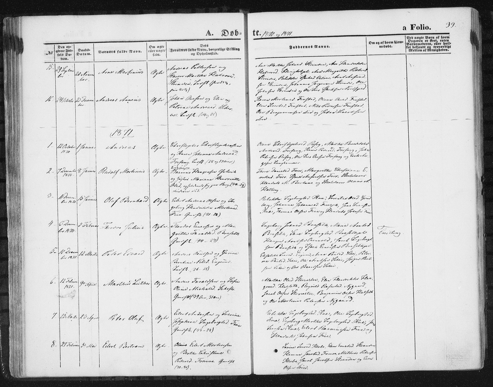 SAT, Ministerialprotokoller, klokkerbøker og fødselsregistre - Nord-Trøndelag, 746/L0447: Ministerialbok nr. 746A06, 1860-1877, s. 39