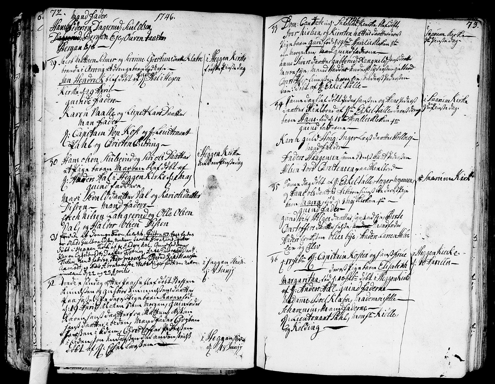 SAKO, Modum kirkebøker, F/Fa/L0002: Ministerialbok nr. 2, 1741-1782, s. 72-73