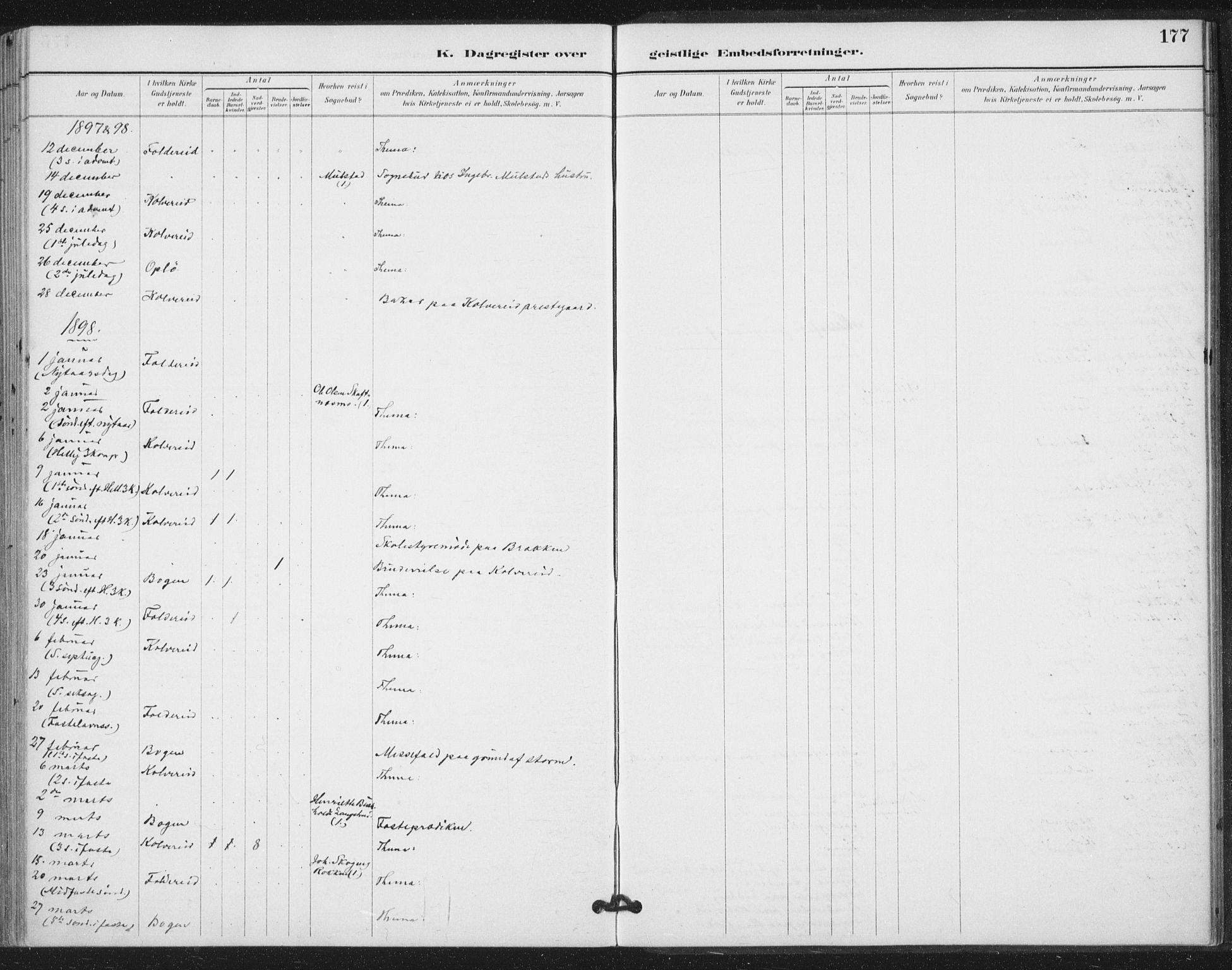SAT, Ministerialprotokoller, klokkerbøker og fødselsregistre - Nord-Trøndelag, 783/L0660: Ministerialbok nr. 783A02, 1886-1918, s. 177