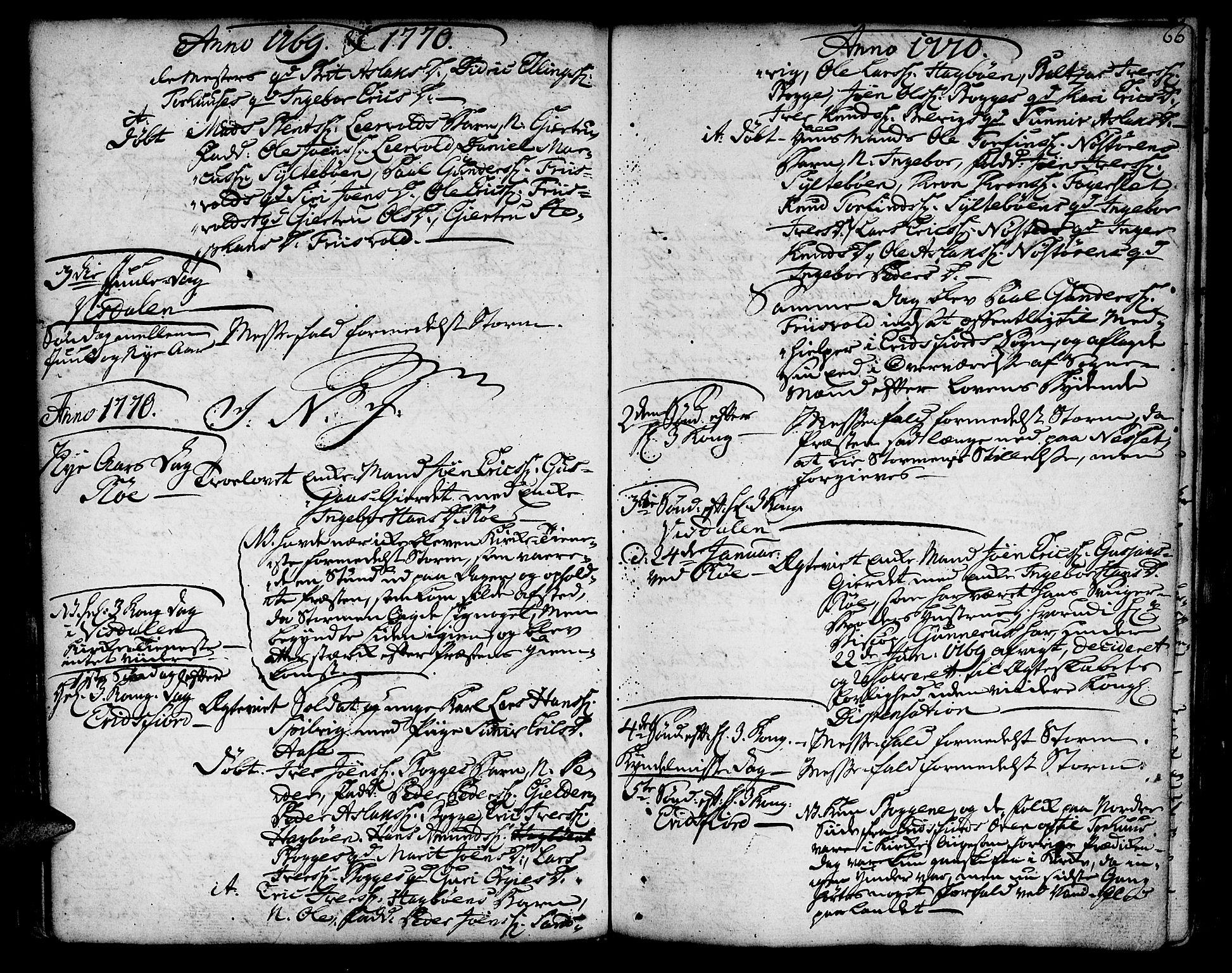 SAT, Ministerialprotokoller, klokkerbøker og fødselsregistre - Møre og Romsdal, 551/L0621: Ministerialbok nr. 551A01, 1757-1803, s. 66