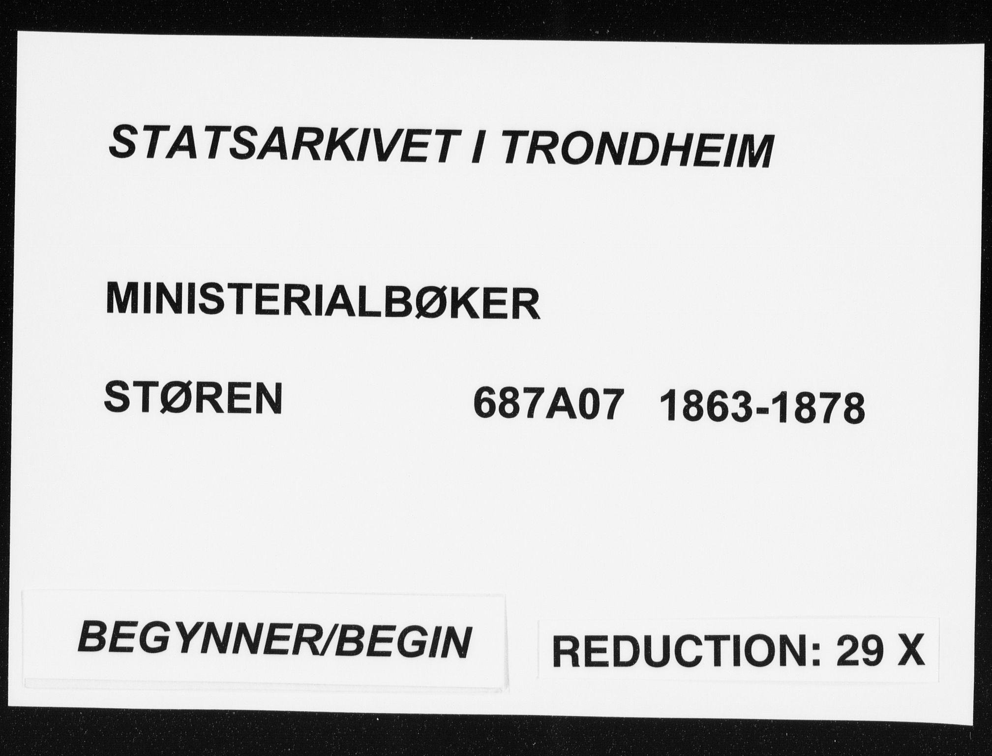 SAT, Ministerialprotokoller, klokkerbøker og fødselsregistre - Sør-Trøndelag, 687/L1001: Ministerialbok nr. 687A07, 1863-1878