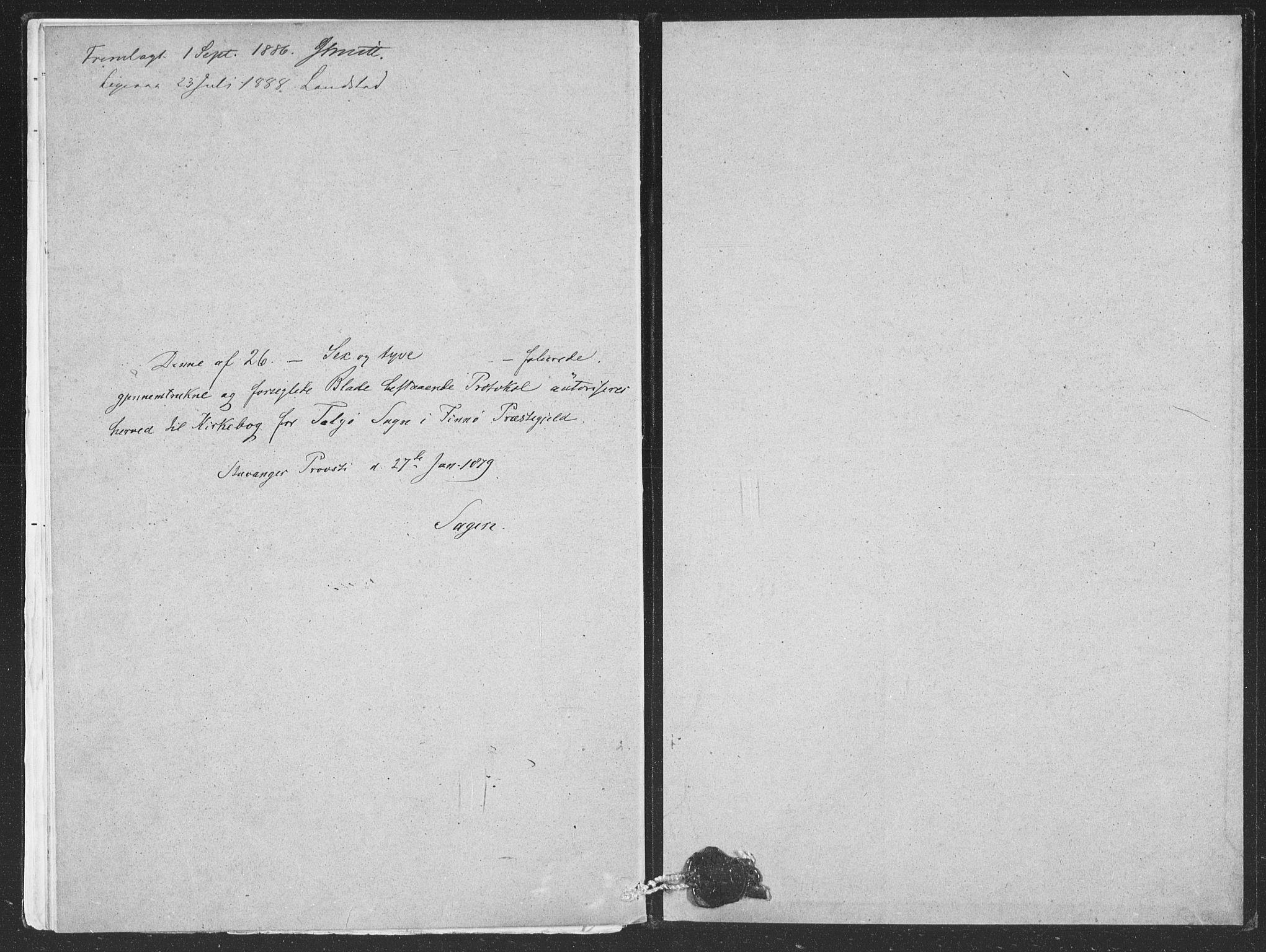 SAST, Finnøy sokneprestkontor, H/Ha/Hab/L0004: Klokkerbok nr. B 4, 1879-1892