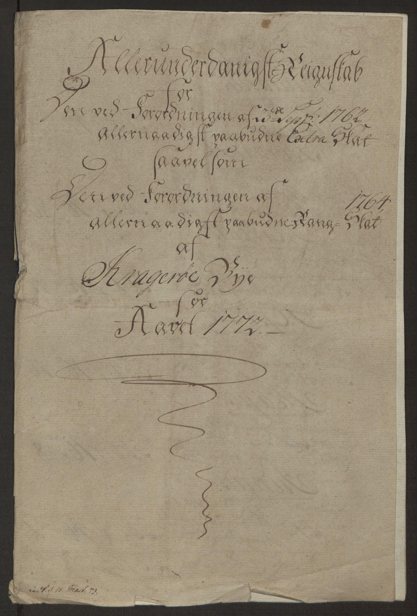 RA, Rentekammeret inntil 1814, Reviderte regnskaper, Byregnskaper, R/Rk/L0218: [K2] Kontribusjonsregnskap, 1768-1772, s. 82