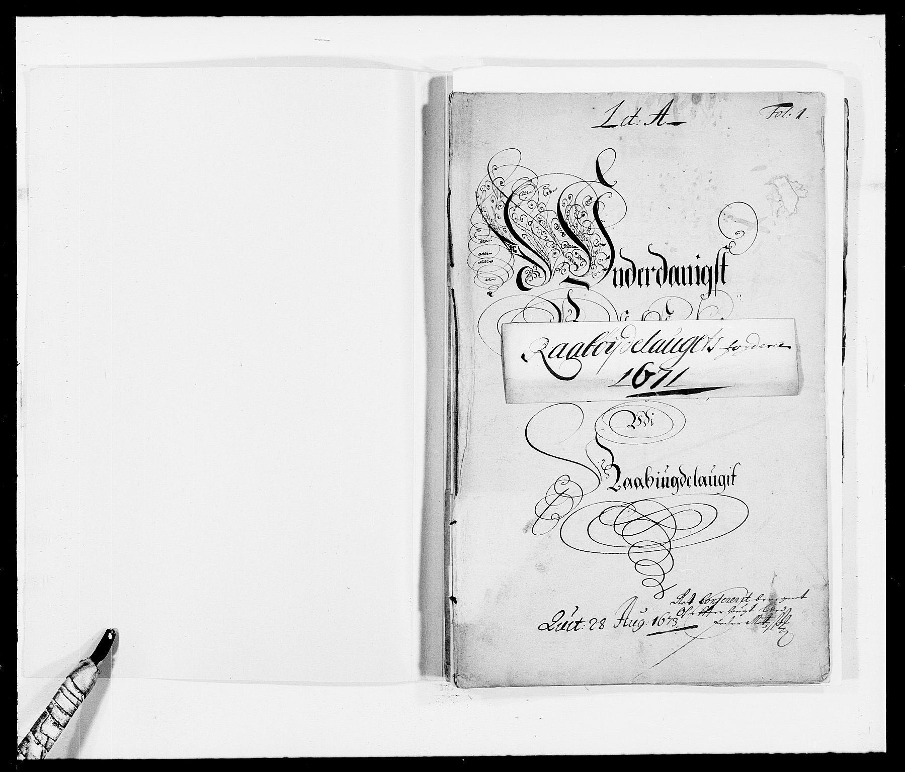 RA, Rentekammeret inntil 1814, Reviderte regnskaper, Fogderegnskap, R40/L2433: Fogderegnskap Råbyggelag, 1671-1674, s. 2