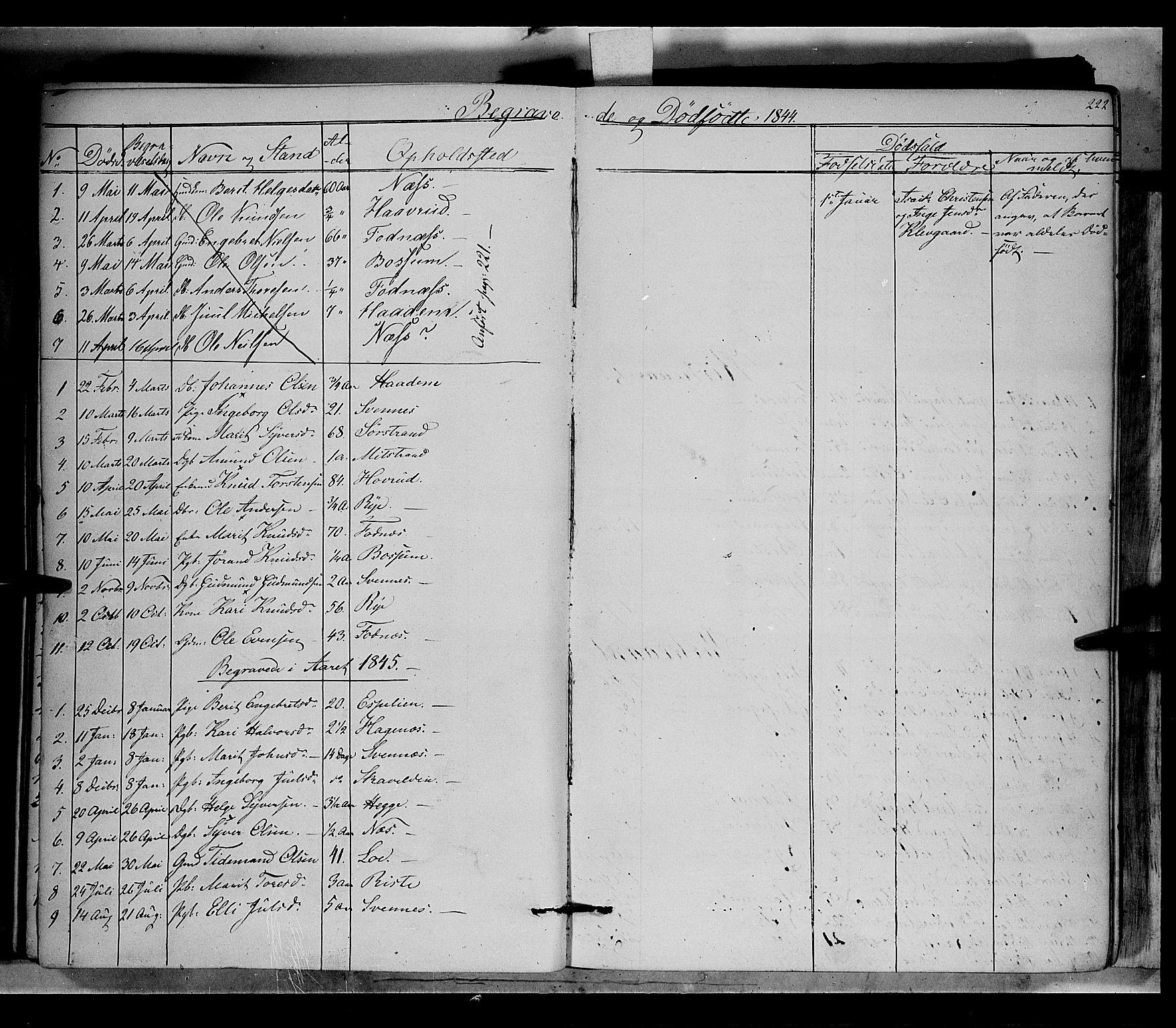 SAH, Nord-Aurdal prestekontor, Ministerialbok nr. 5, 1842-1863, s. 222