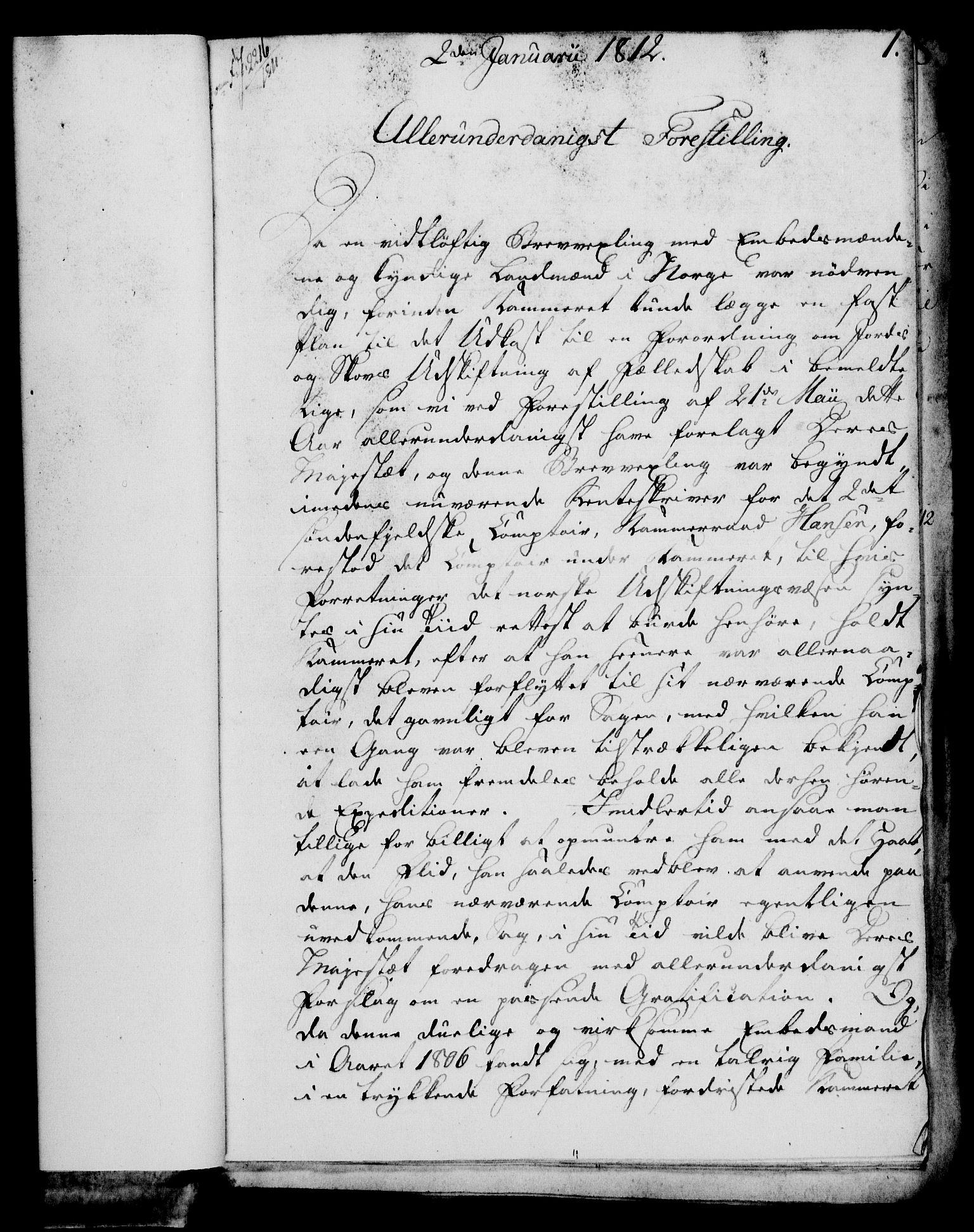 RA, Rentekammeret, Kammerkanselliet, G/Gf/Gfa/L0094: Norsk relasjons- og resolusjonsprotokoll (merket RK 52.94), 1812, s. 30
