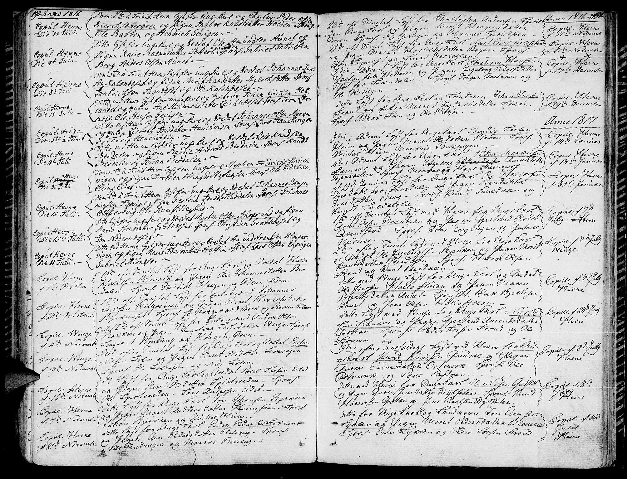 SAT, Ministerialprotokoller, klokkerbøker og fødselsregistre - Sør-Trøndelag, 630/L0490: Ministerialbok nr. 630A03, 1795-1818, s. 190-191