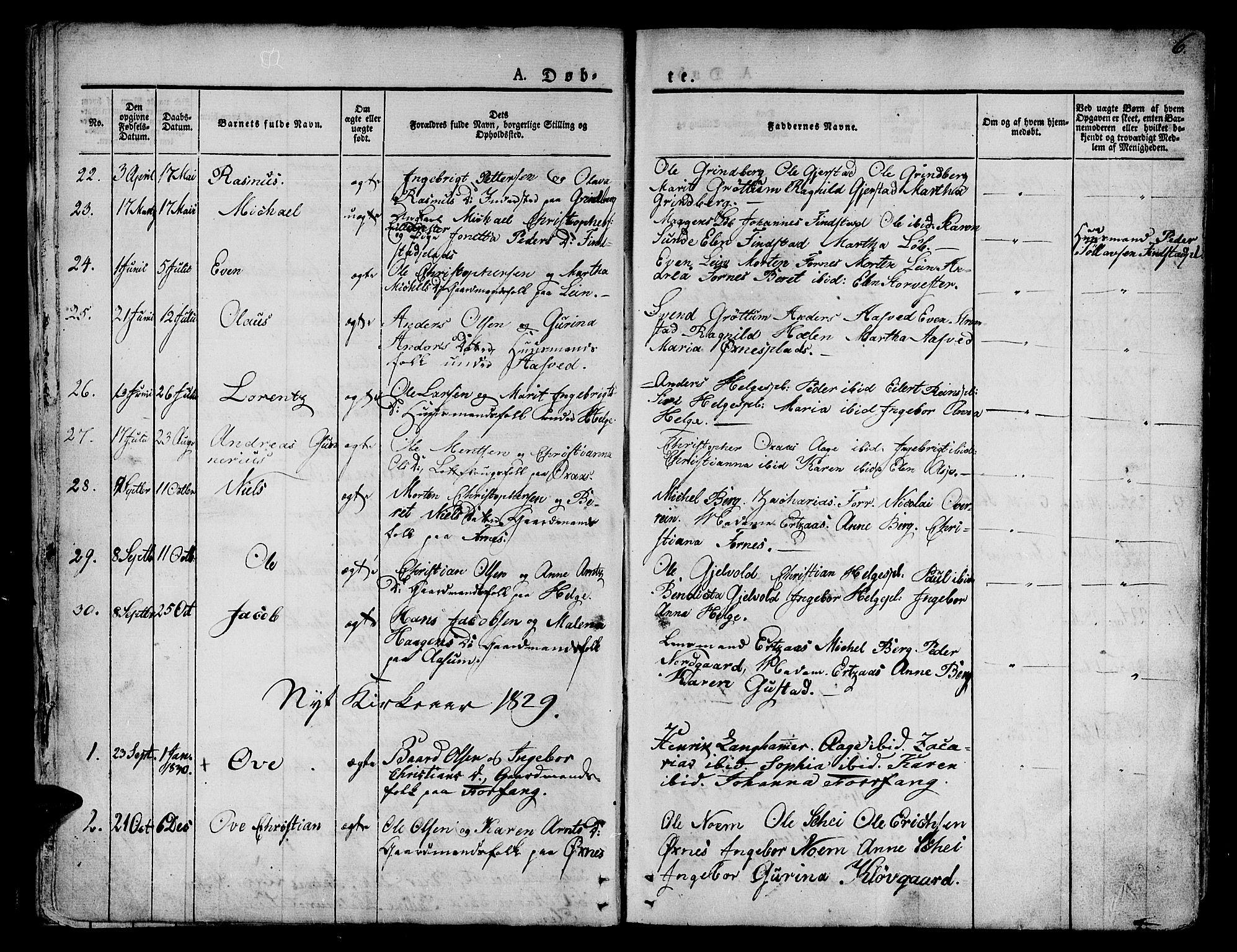 SAT, Ministerialprotokoller, klokkerbøker og fødselsregistre - Nord-Trøndelag, 746/L0445: Ministerialbok nr. 746A04, 1826-1846, s. 6