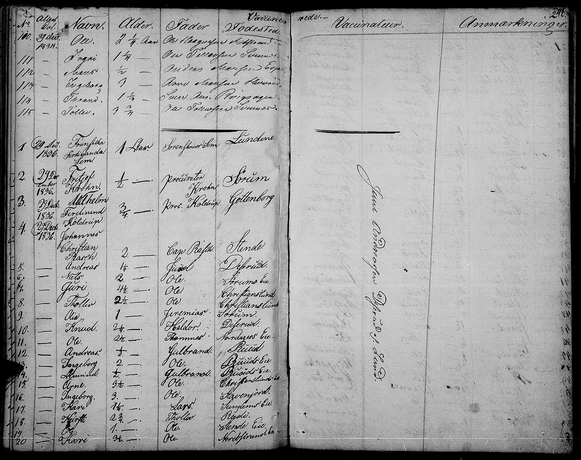 SAH, Nord-Aurdal prestekontor, Ministerialbok nr. 3, 1828-1841, s. 240