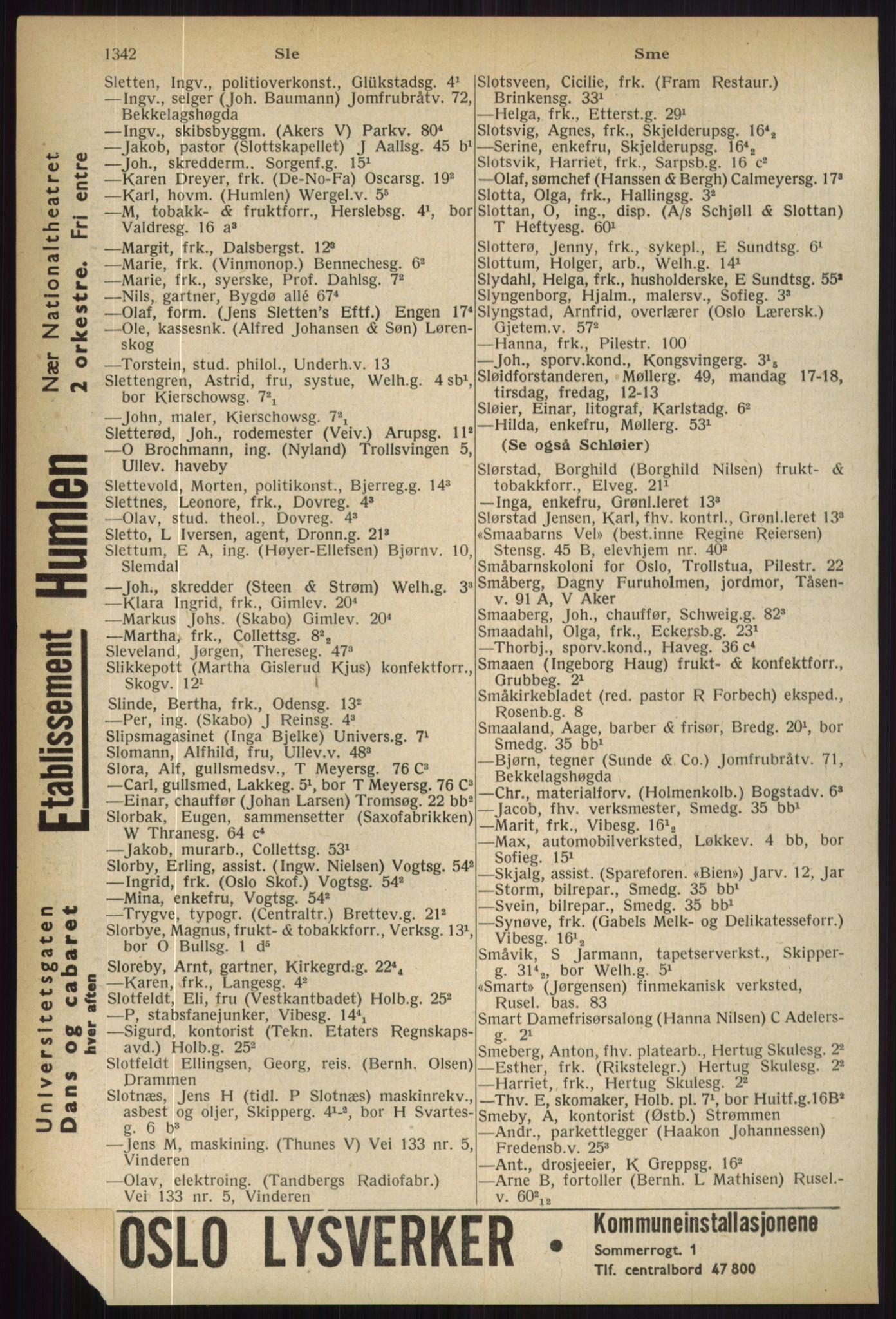 PUBL, Kristiania/Oslo adressebok, 1936, s. 1342
