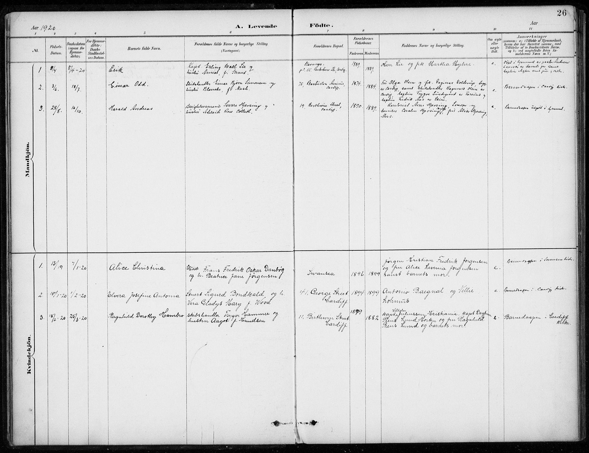 SAB, Den Norske Sjømannsmisjon i utlandet*, Ministerialbok nr. A 2, 1887-1932, s. 26