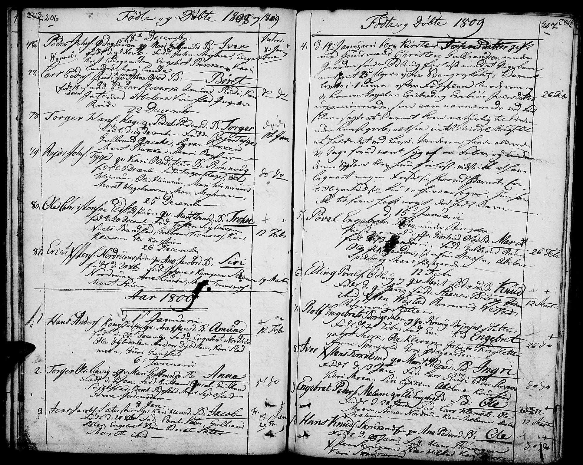 SAH, Ringebu prestekontor, Ministerialbok nr. 3, 1781-1820, s. 206-207