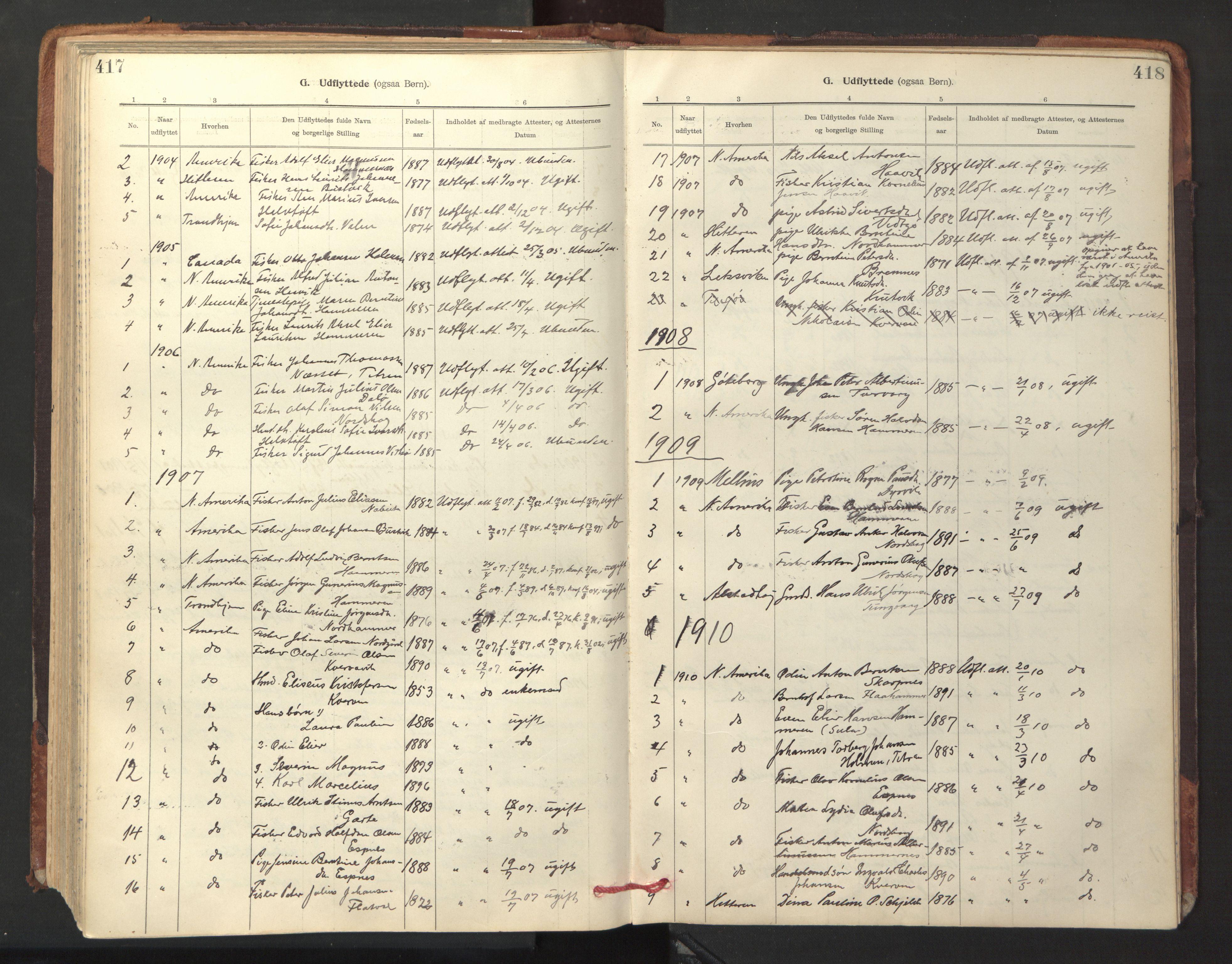 SAT, Ministerialprotokoller, klokkerbøker og fødselsregistre - Sør-Trøndelag, 641/L0596: Ministerialbok nr. 641A02, 1898-1915, s. 417-418