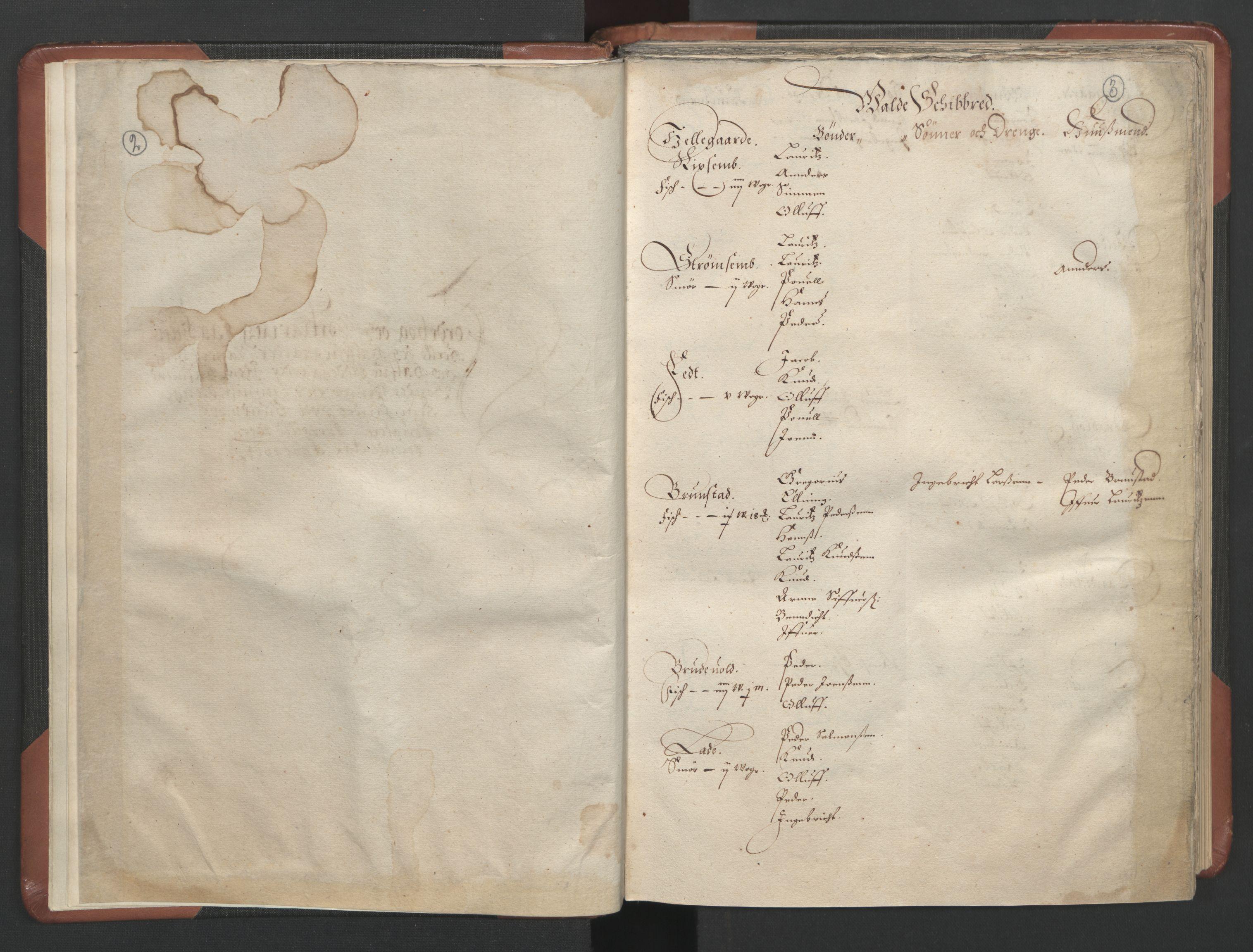 RA, Fogdenes og sorenskrivernes manntall 1664-1666, nr. 16: Romsdal fogderi og Sunnmøre fogderi, 1664-1665, s. 2-3