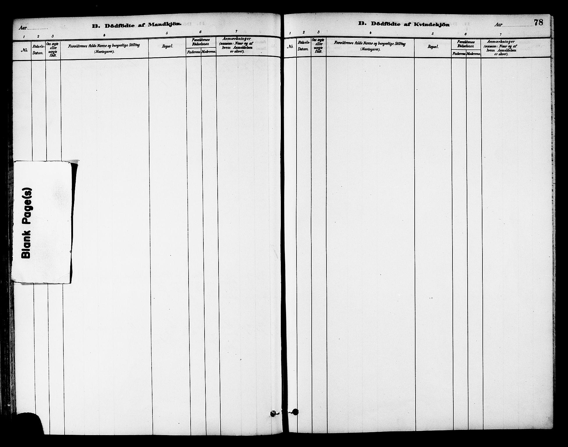 SAT, Ministerialprotokoller, klokkerbøker og fødselsregistre - Nord-Trøndelag, 784/L0672: Ministerialbok nr. 784A07, 1880-1887, s. 78
