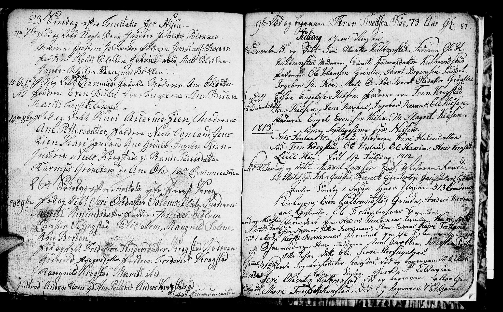 SAT, Ministerialprotokoller, klokkerbøker og fødselsregistre - Sør-Trøndelag, 694/L1129: Klokkerbok nr. 694C01, 1793-1815, s. 57