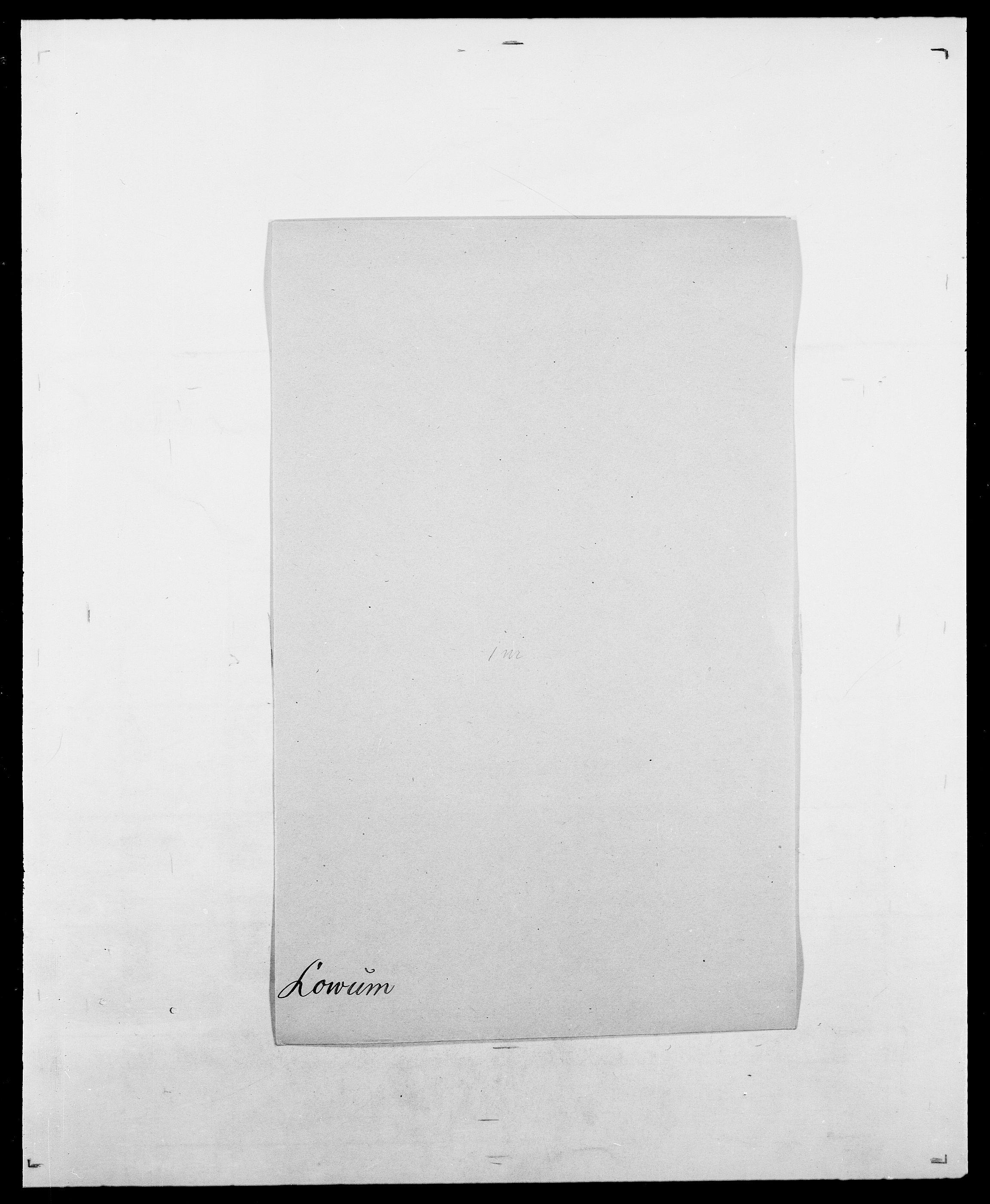 SAO, Delgobe, Charles Antoine - samling, D/Da/L0024: Lobech - Lærum, s. 353