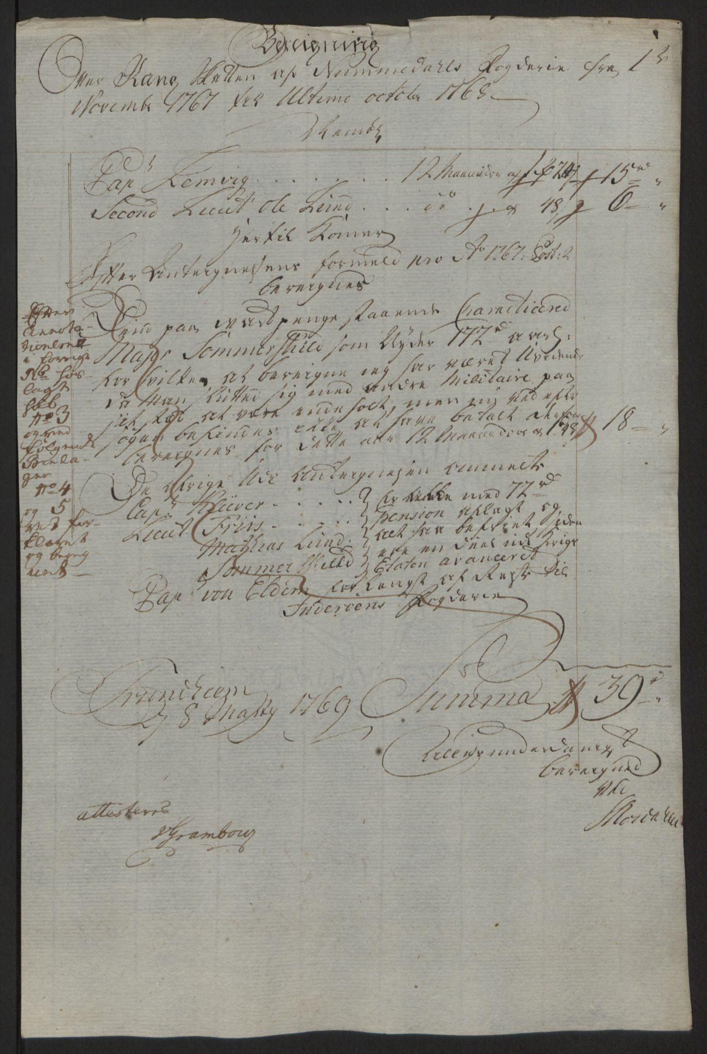 RA, Rentekammeret inntil 1814, Reviderte regnskaper, Fogderegnskap, R64/L4502: Ekstraskatten Namdal, 1762-1772, s. 266