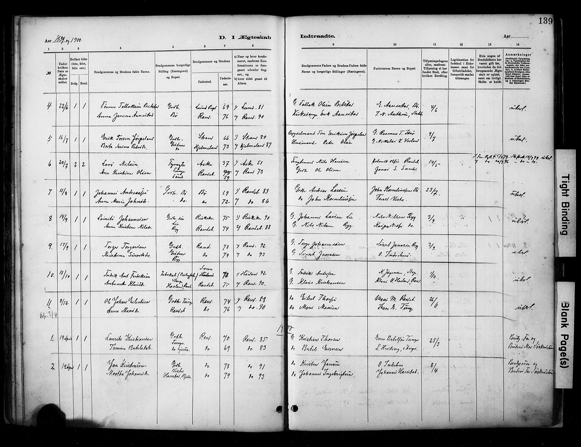 SAST, Hetland sokneprestkontor, 30/30BA/L0009: Ministerialbok nr. A 9, 1882-1918, s. 139