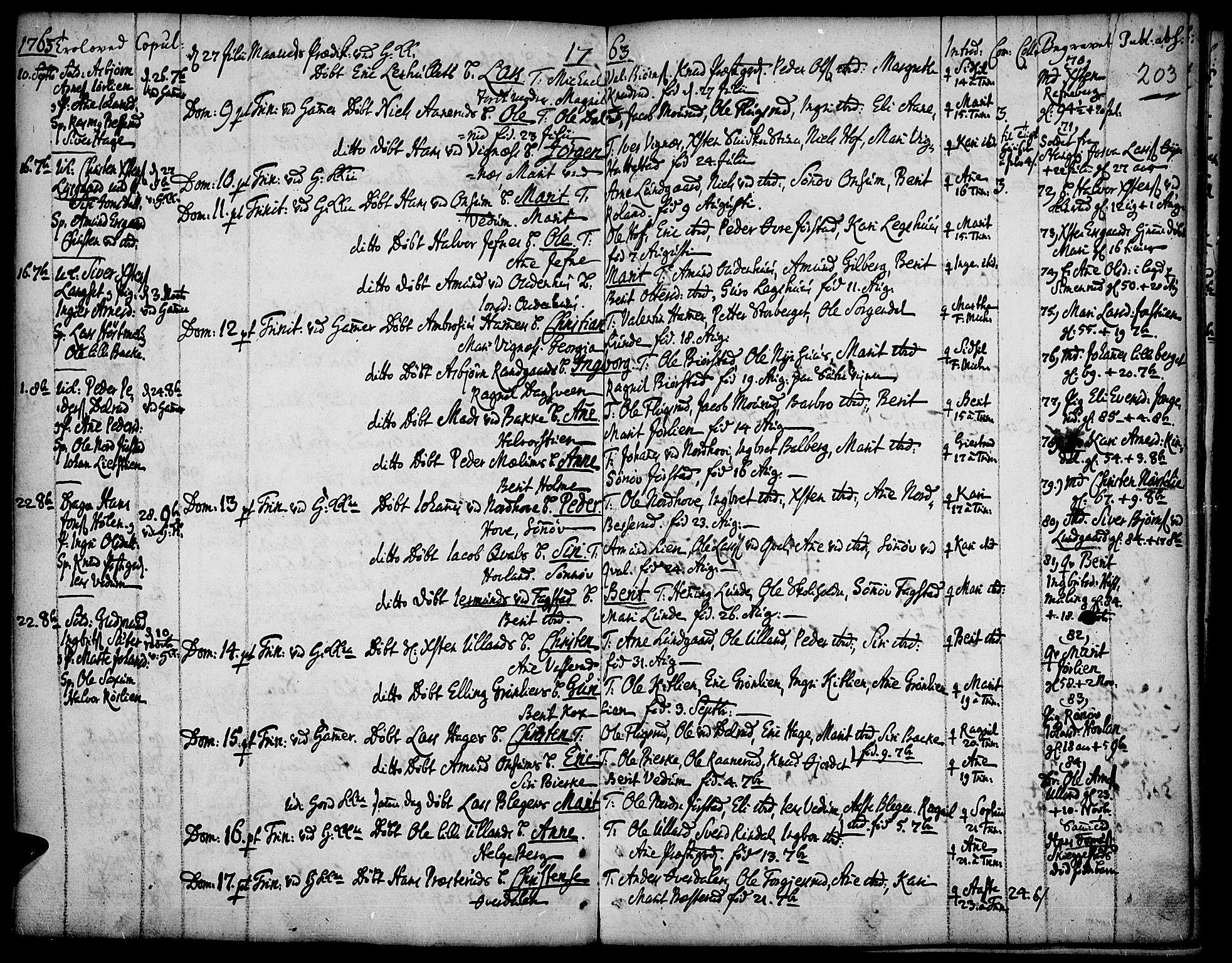 SAH, Fåberg prestekontor, H/Ha/Haa/L0001: Ministerialbok nr. 1, 1727-1775, s. 203