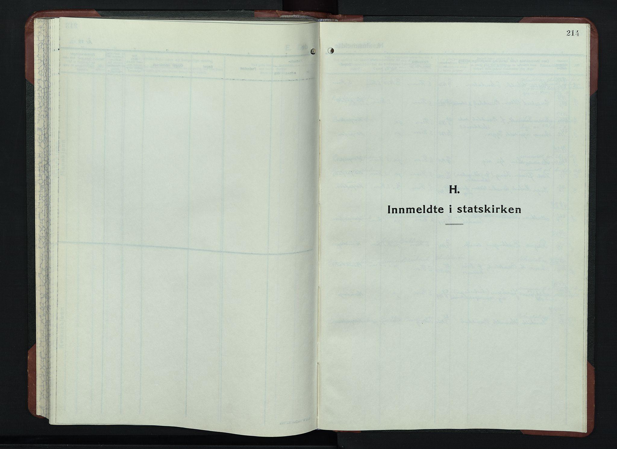 SAH, Sør-Fron prestekontor, H/Ha/Hab/L0006: Klokkerbok nr. 6, 1933-1948, s. 214
