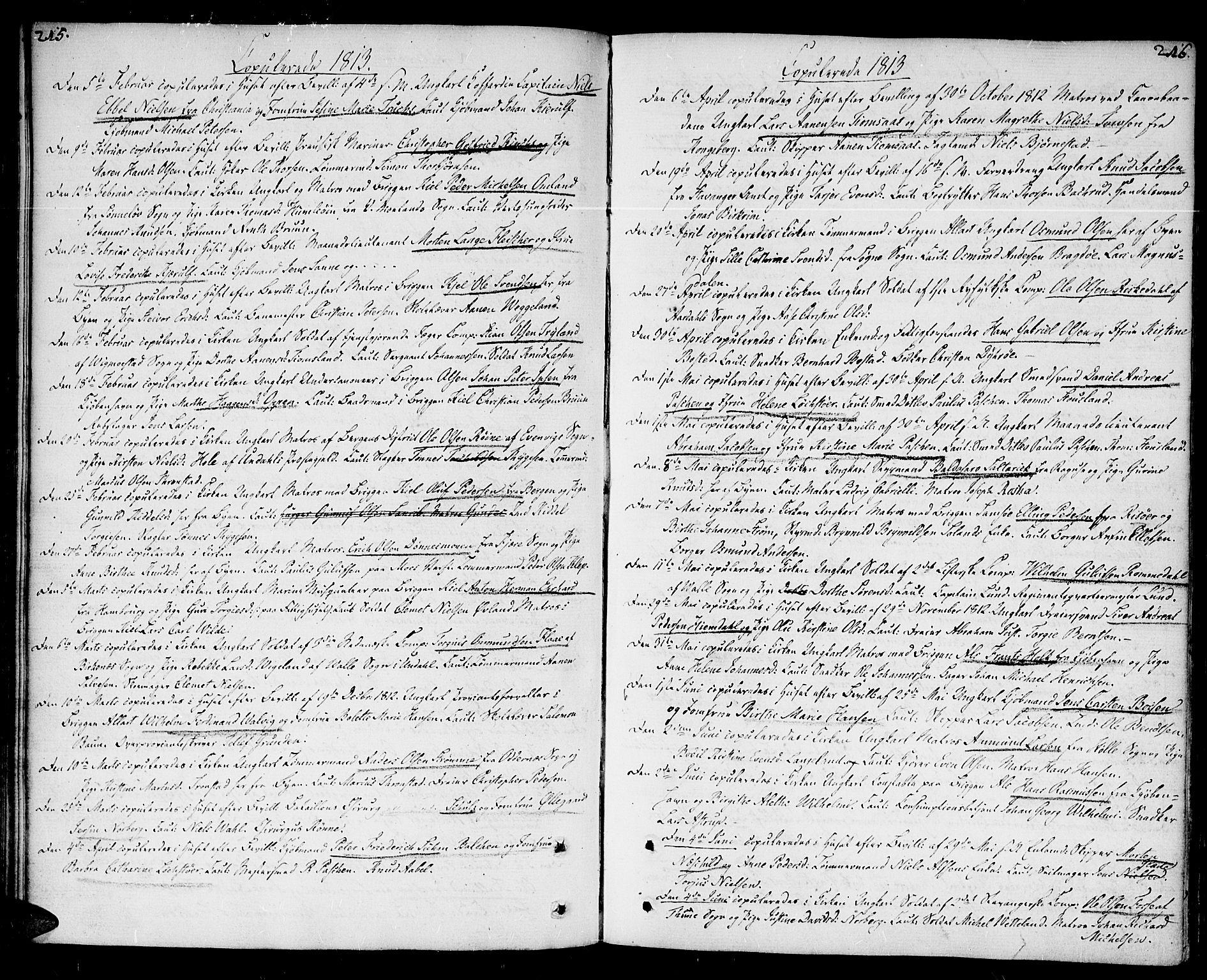 SAK, Kristiansand domprosti, F/Fa/L0005: Ministerialbok nr. A 5, 1776-1818, s. 215-216