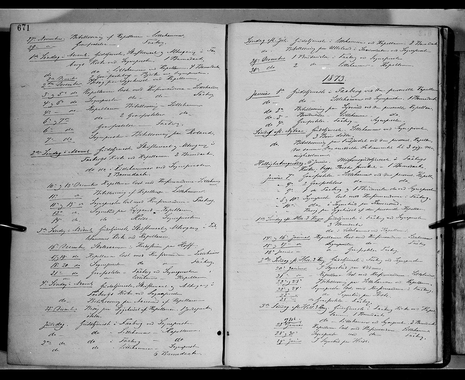 SAH, Fåberg prestekontor, Ministerialbok nr. 7, 1868-1878, s. 671