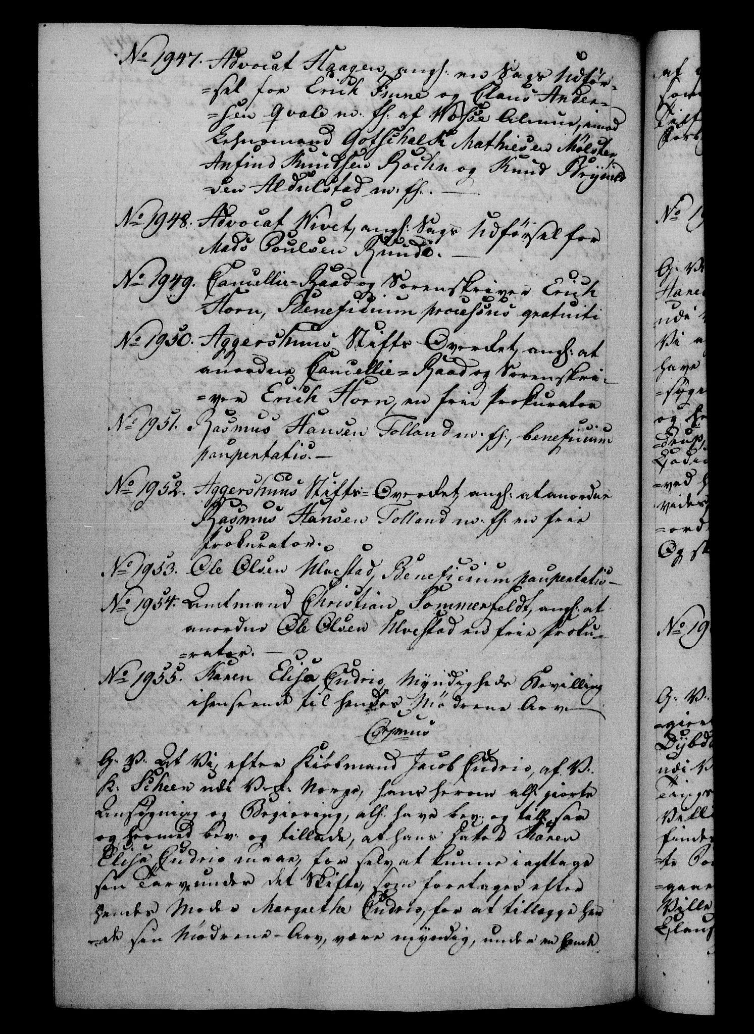 RA, Danske Kanselli 1800-1814, H/Hf/Hfb/Hfba/L0001: Registranter, 1800-1801, s. 444b