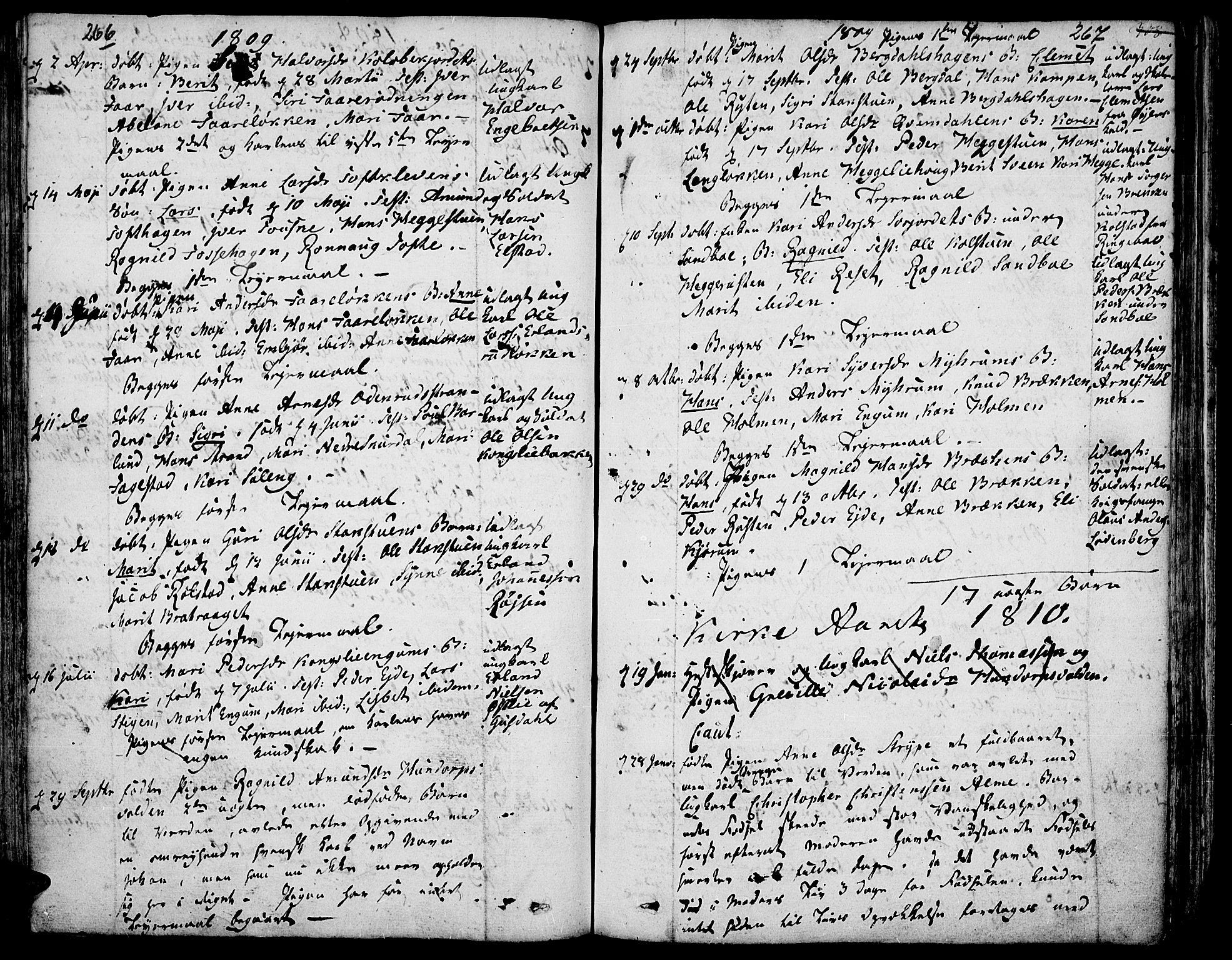 SAH, Fron prestekontor, H/Ha/Haa/L0001: Ministerialbok nr. 1, 1799-1816, s. 266-267