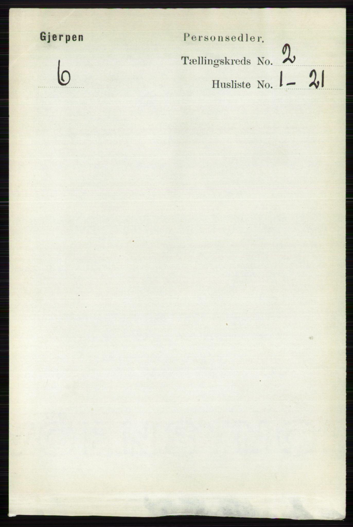 RA, Folketelling 1891 for 0812 Gjerpen herred, 1891, s. 736