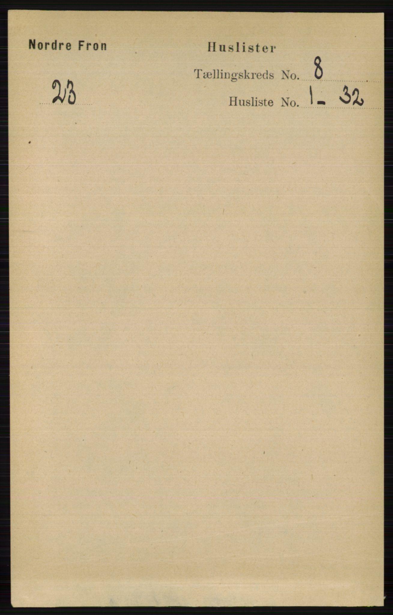 RA, Folketelling 1891 for 0518 Nord-Fron herred, 1891, s. 3379