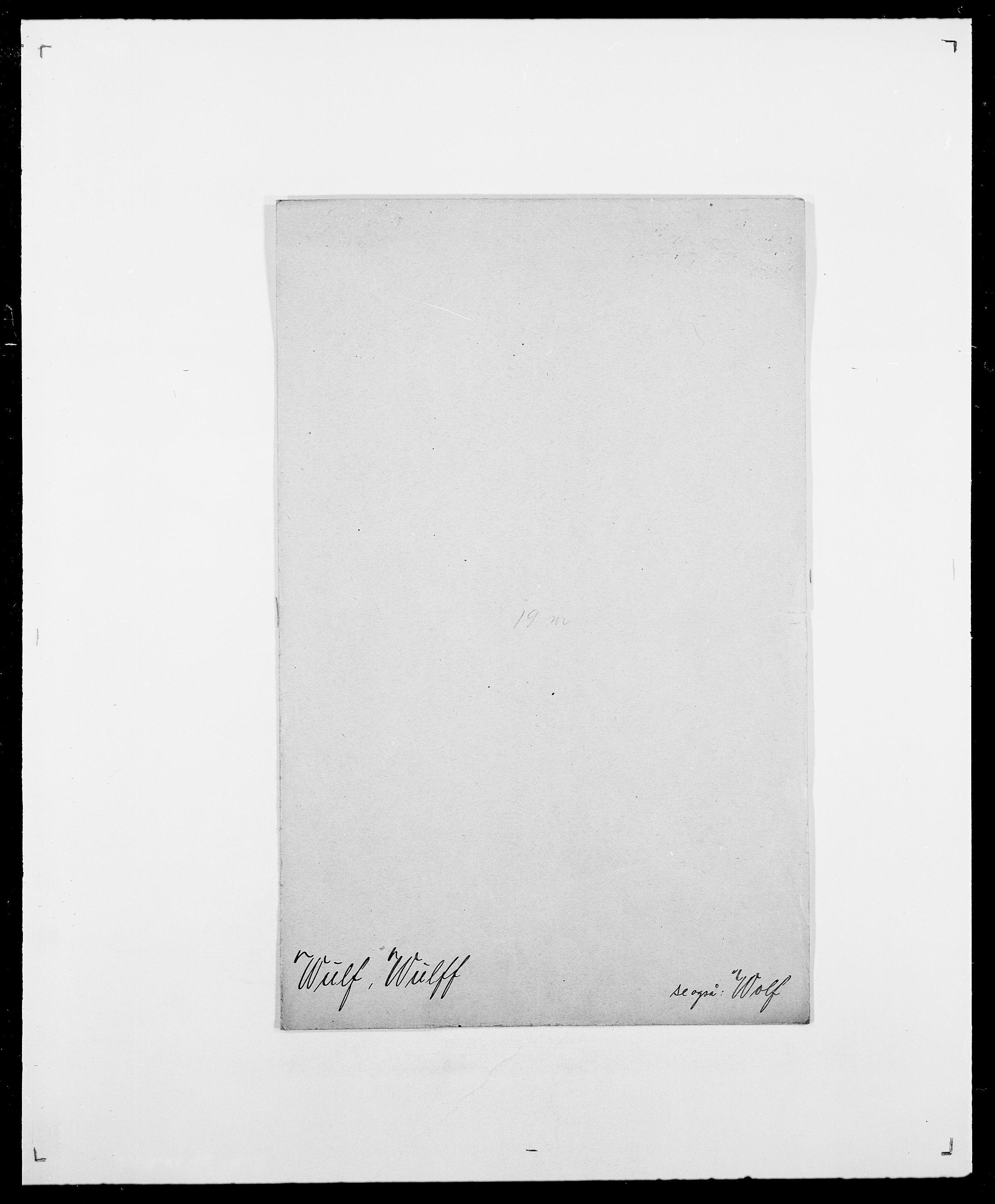 SAO, Delgobe, Charles Antoine - samling, D/Da/L0042: Vilain - Wulf, Wulff, se også Wolf, s. 790