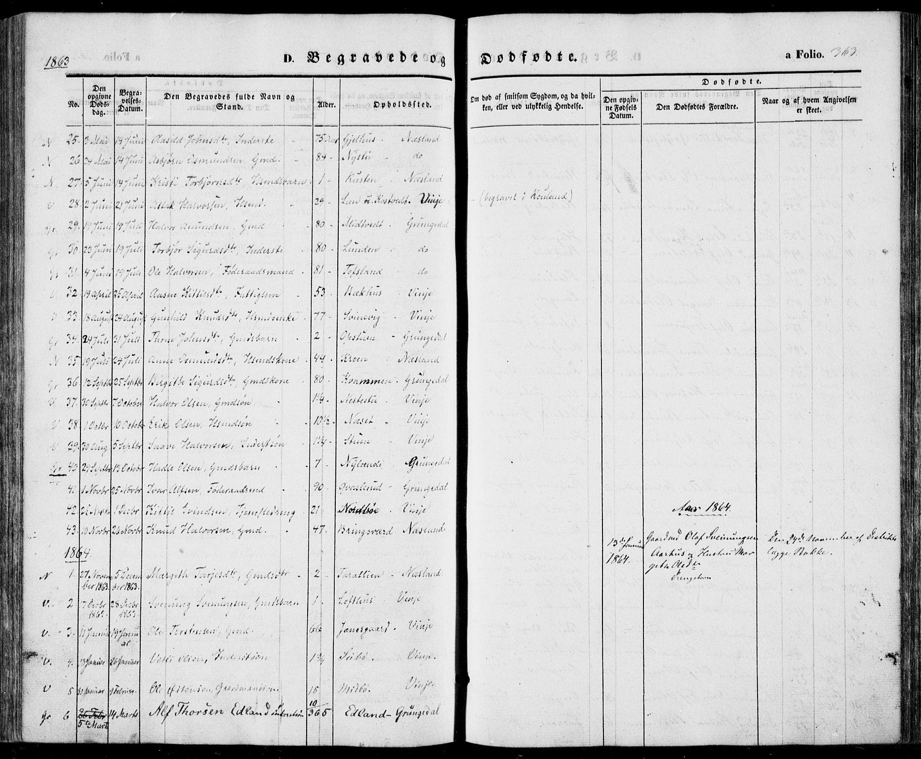 SAKO, Vinje kirkebøker, F/Fa/L0004: Ministerialbok nr. I 4, 1843-1869, s. 363
