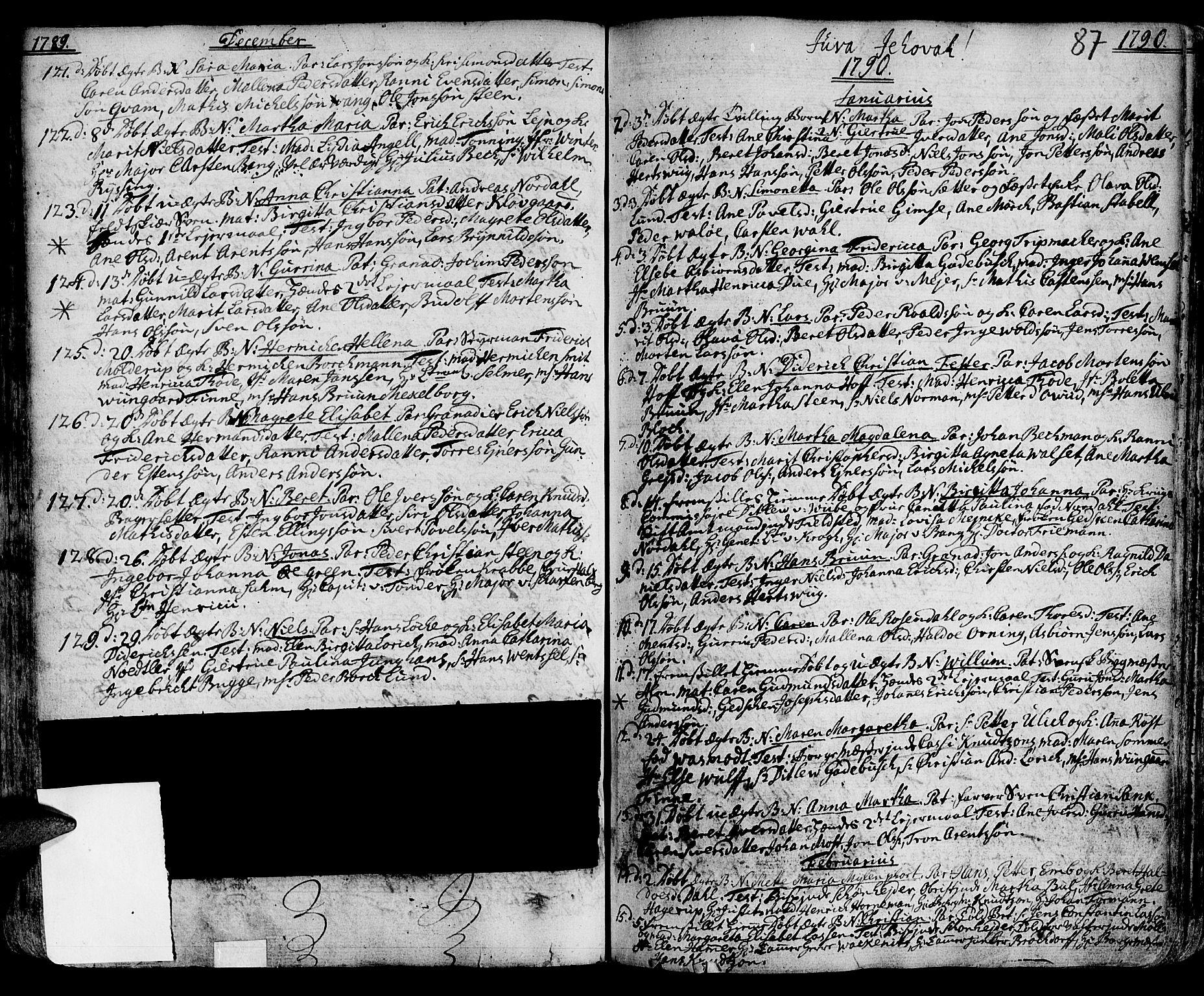 SAT, Ministerialprotokoller, klokkerbøker og fødselsregistre - Sør-Trøndelag, 601/L0039: Ministerialbok nr. 601A07, 1770-1819, s. 87