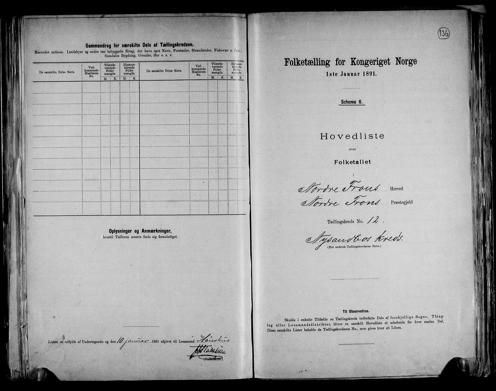 RA, Folketelling 1891 for 0518 Nord-Fron herred, 1891, s. 31