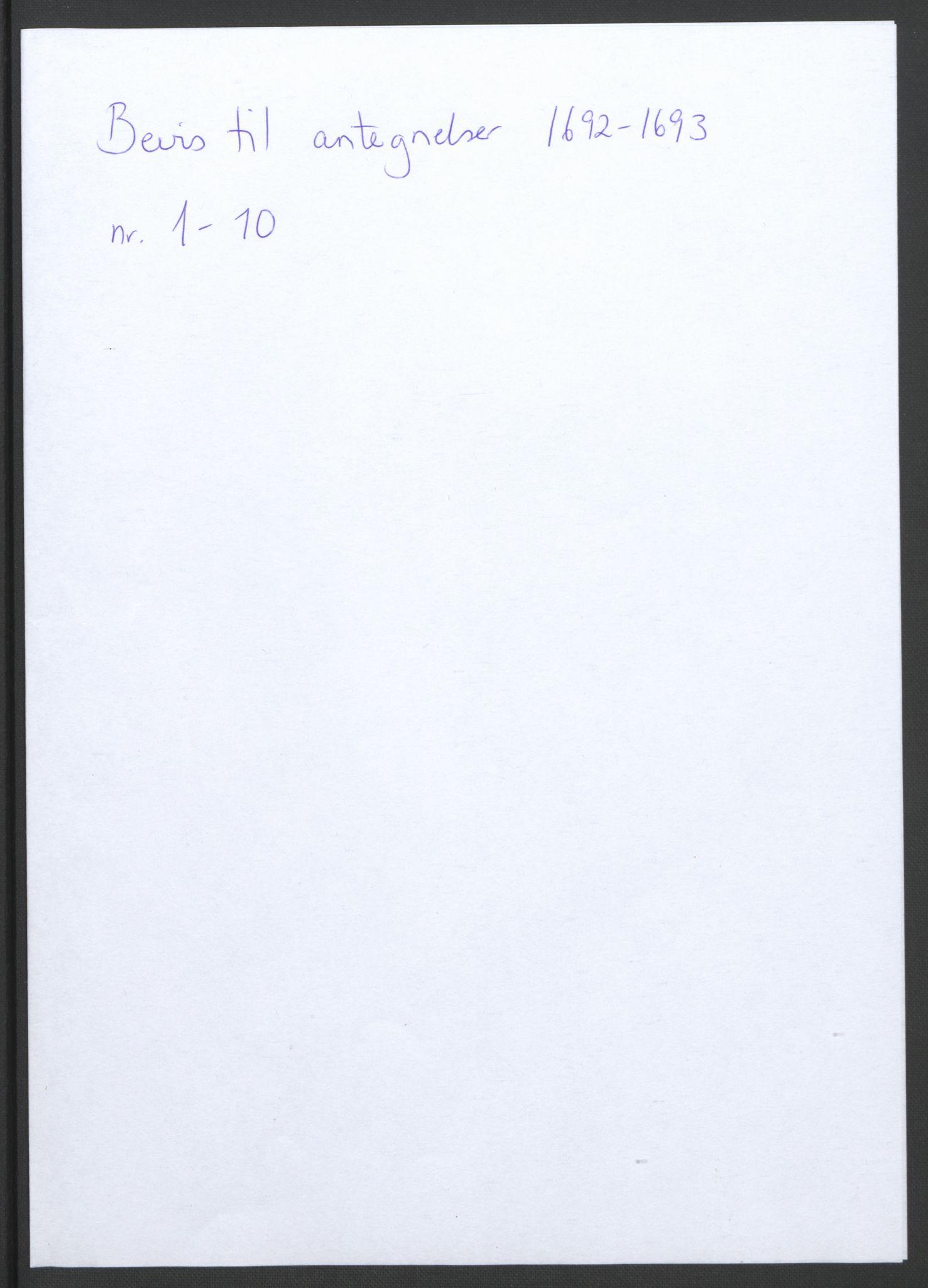 RA, Rentekammeret inntil 1814, Reviderte regnskaper, Fogderegnskap, R34/L2053: Fogderegnskap Bamble, 1693, s. 321