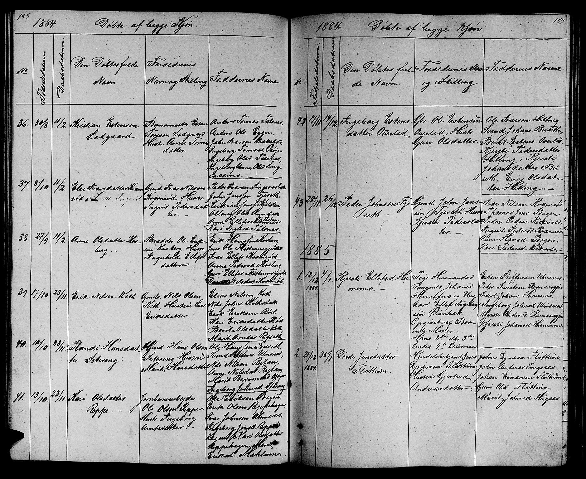 SAT, Ministerialprotokoller, klokkerbøker og fødselsregistre - Sør-Trøndelag, 688/L1027: Klokkerbok nr. 688C02, 1861-1889, s. 158-159