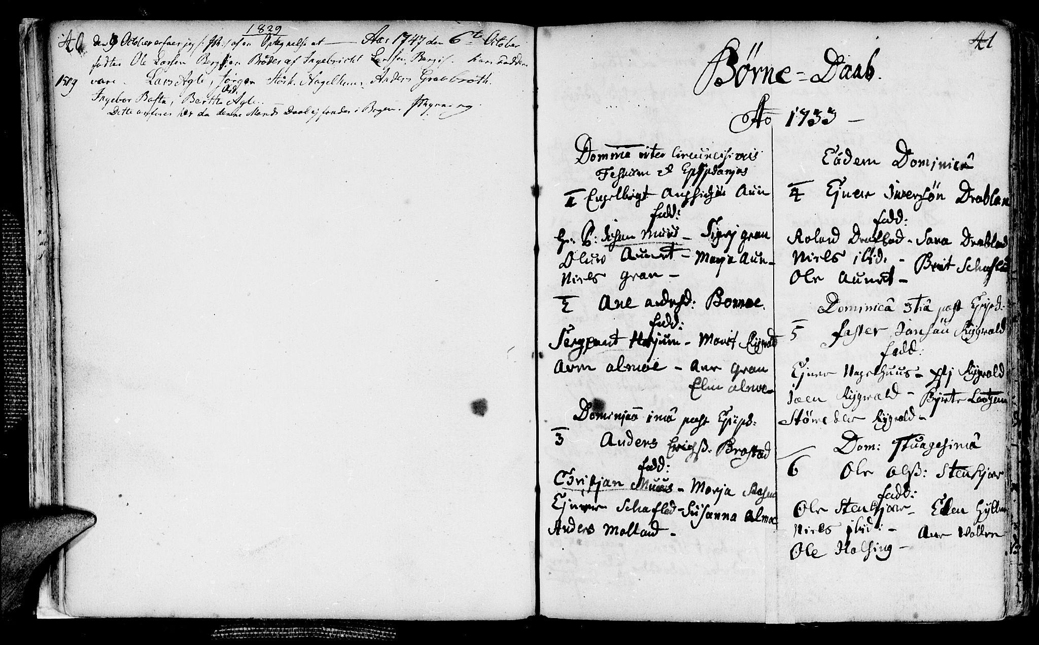 SAT, Ministerialprotokoller, klokkerbøker og fødselsregistre - Nord-Trøndelag, 749/L0467: Ministerialbok nr. 749A01, 1733-1787, s. 40-41
