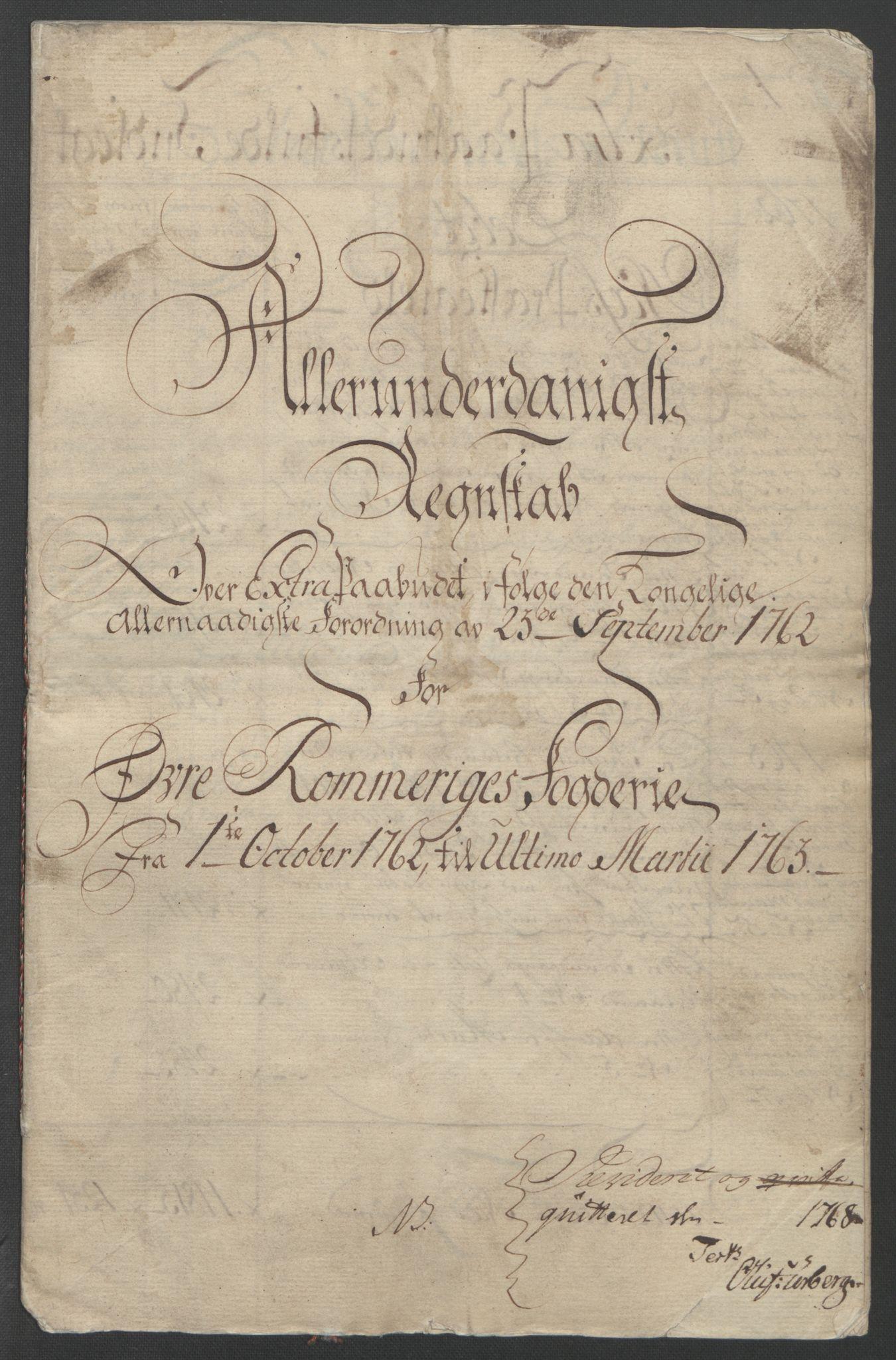 RA, Rentekammeret inntil 1814, Reviderte regnskaper, Fogderegnskap, R12/L0802: Ekstraskatten Øvre Romerike, 1762, s. 6