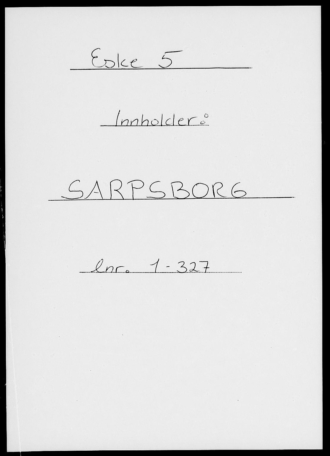 RA, Folketelling 1885 for 0102 Sarpsborg kjøpstad, 1885