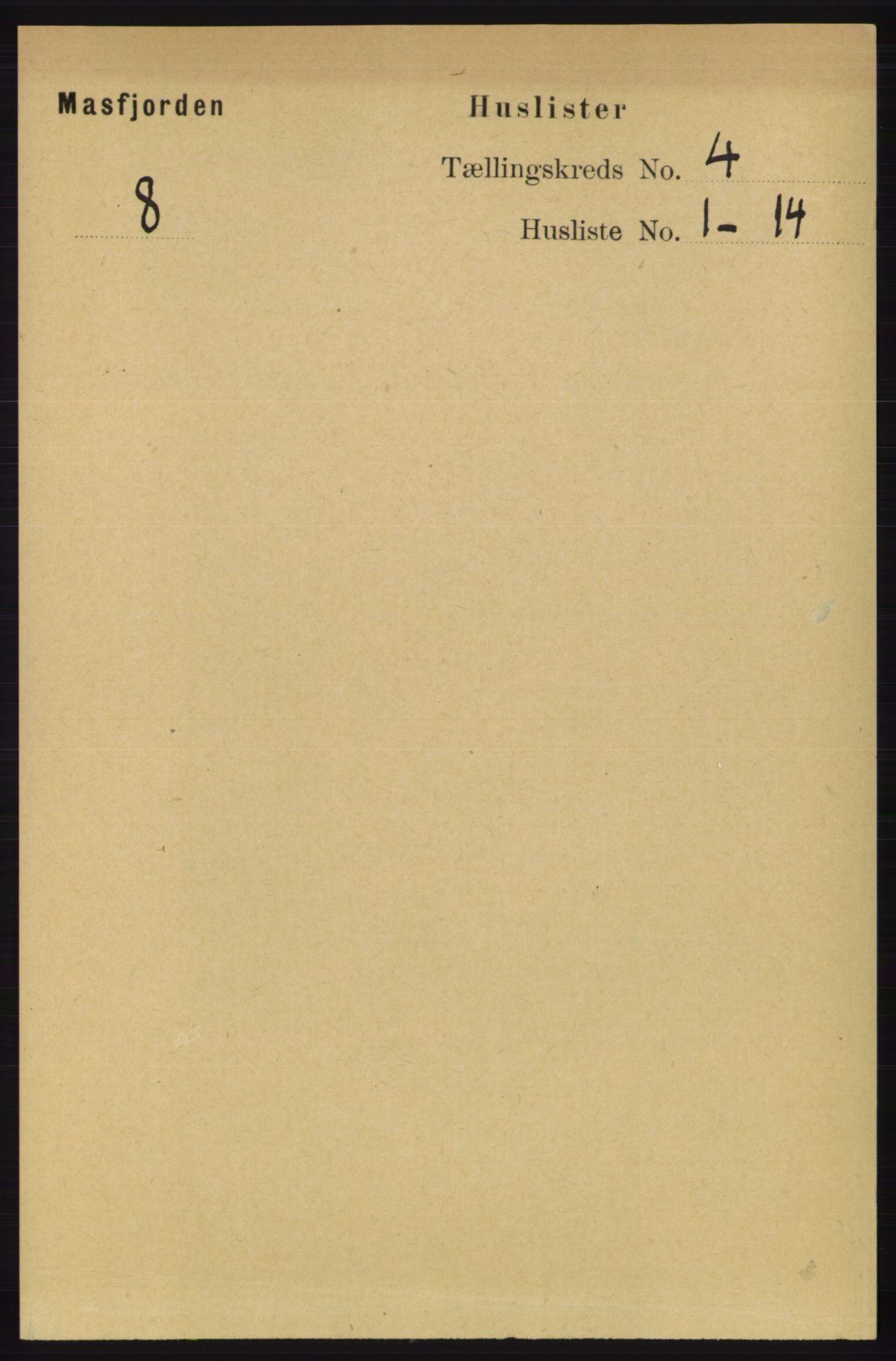 RA, Folketelling 1891 for 1266 Masfjorden herred, 1891, s. 722