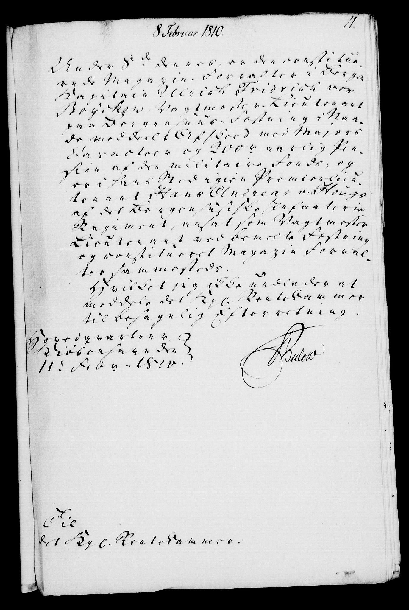 RA, Rentekammeret, Kammerkanselliet, G/Gf/Gfa/L0092: Norsk relasjons- og resolusjonsprotokoll (merket RK 52.92), 1810, s. 54