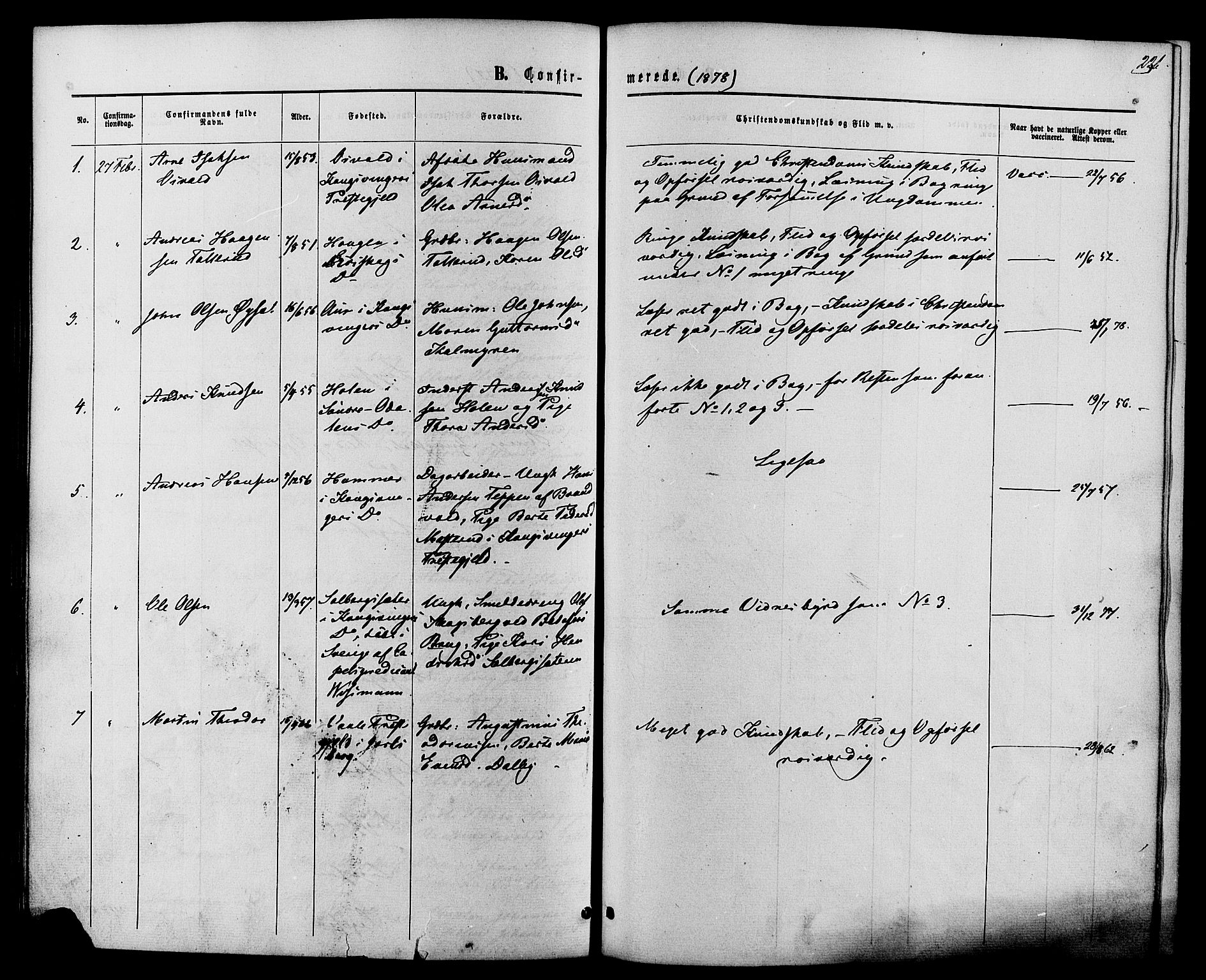 SAH, Vardal prestekontor, H/Ha/Haa/L0007: Ministerialbok nr. 7, 1867-1878, s. 236